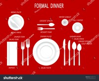 Formal Dinner Place Settings. Dinner Table Set. Set For ...