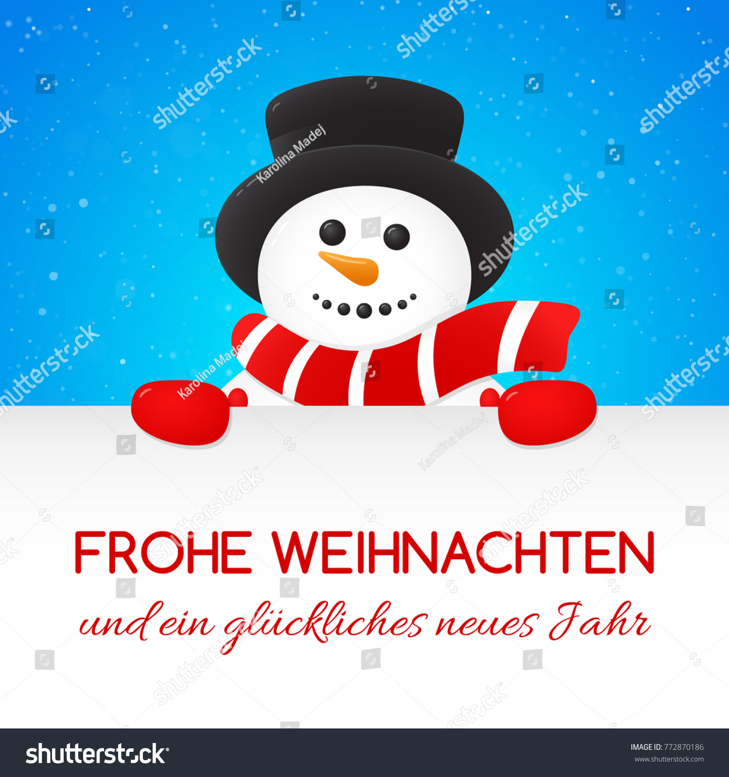 Frohe Weihnachten Frohe Weihnachten Merry Christmas German Christmas Stock Vector