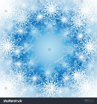 Frosted Window Christmas Snowflakes Pattern Stock Vector ...