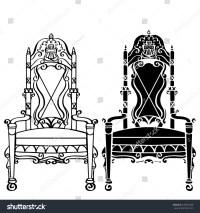 Furniture Hand Drawn Set Vintage Gothic Stock Vector ...