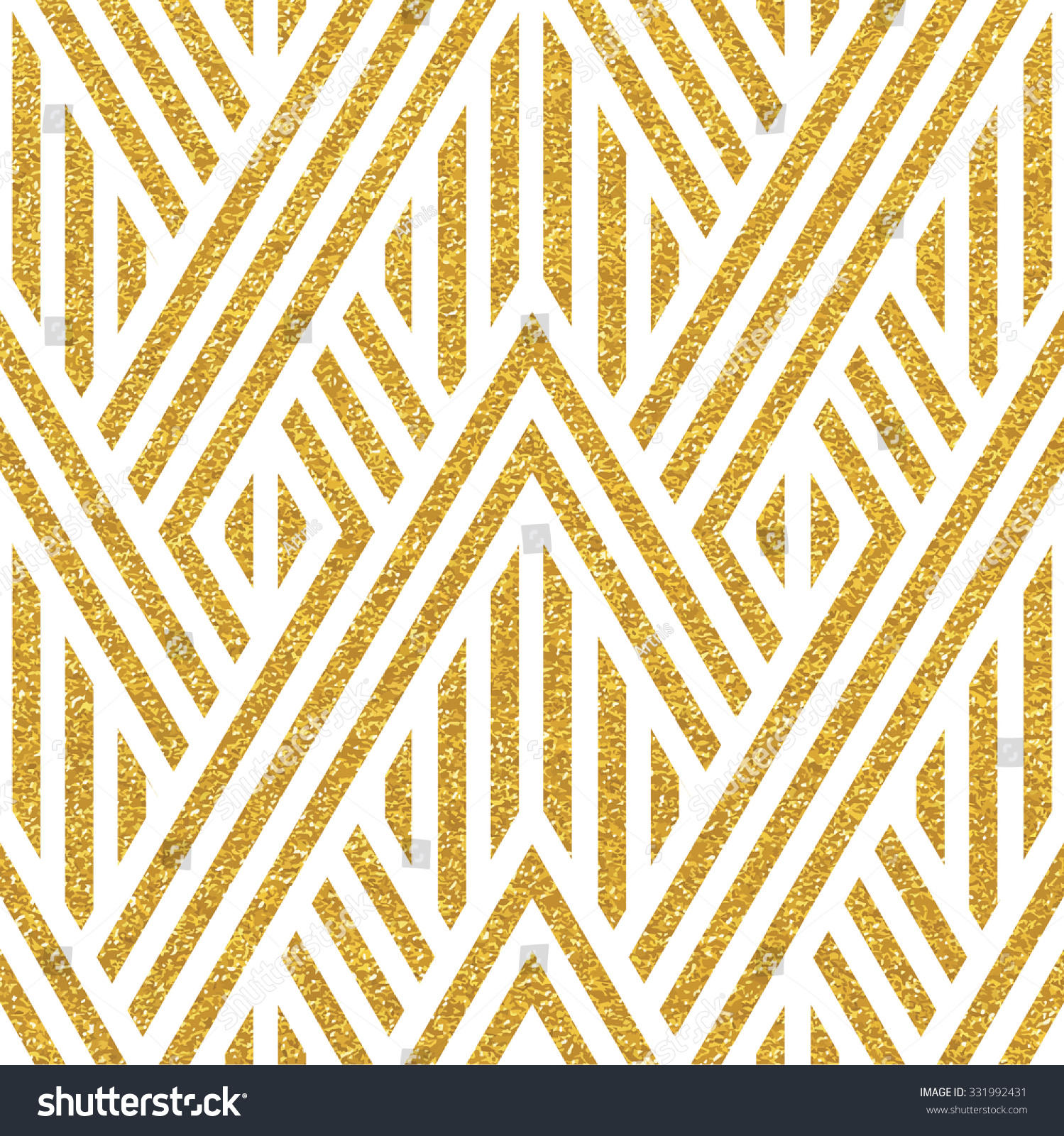 Cute Zig Zag Wallpapers Geometric Striped Ornament Vector Gold Seamless Stock