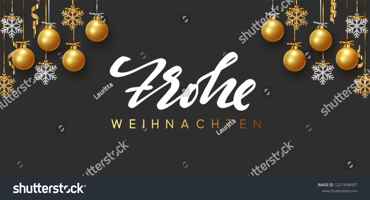 Design Weihnachten German Text Frohe Weihnachten Merry Christmas Stock Vector