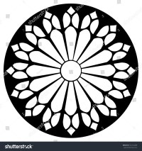Gothic Rosette Window Pattern Vector Black Stock Vector ...