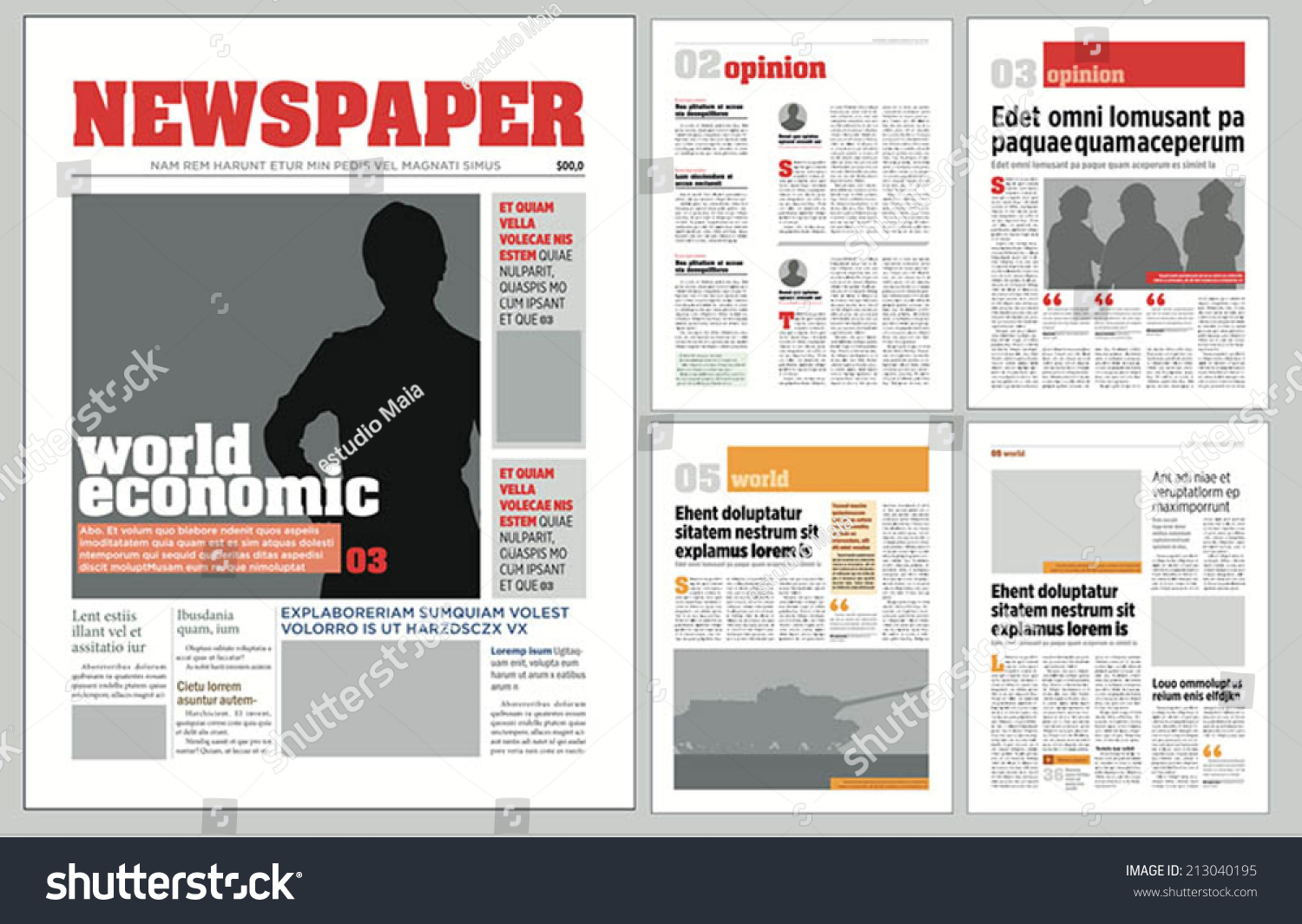 publisher newspaper template download