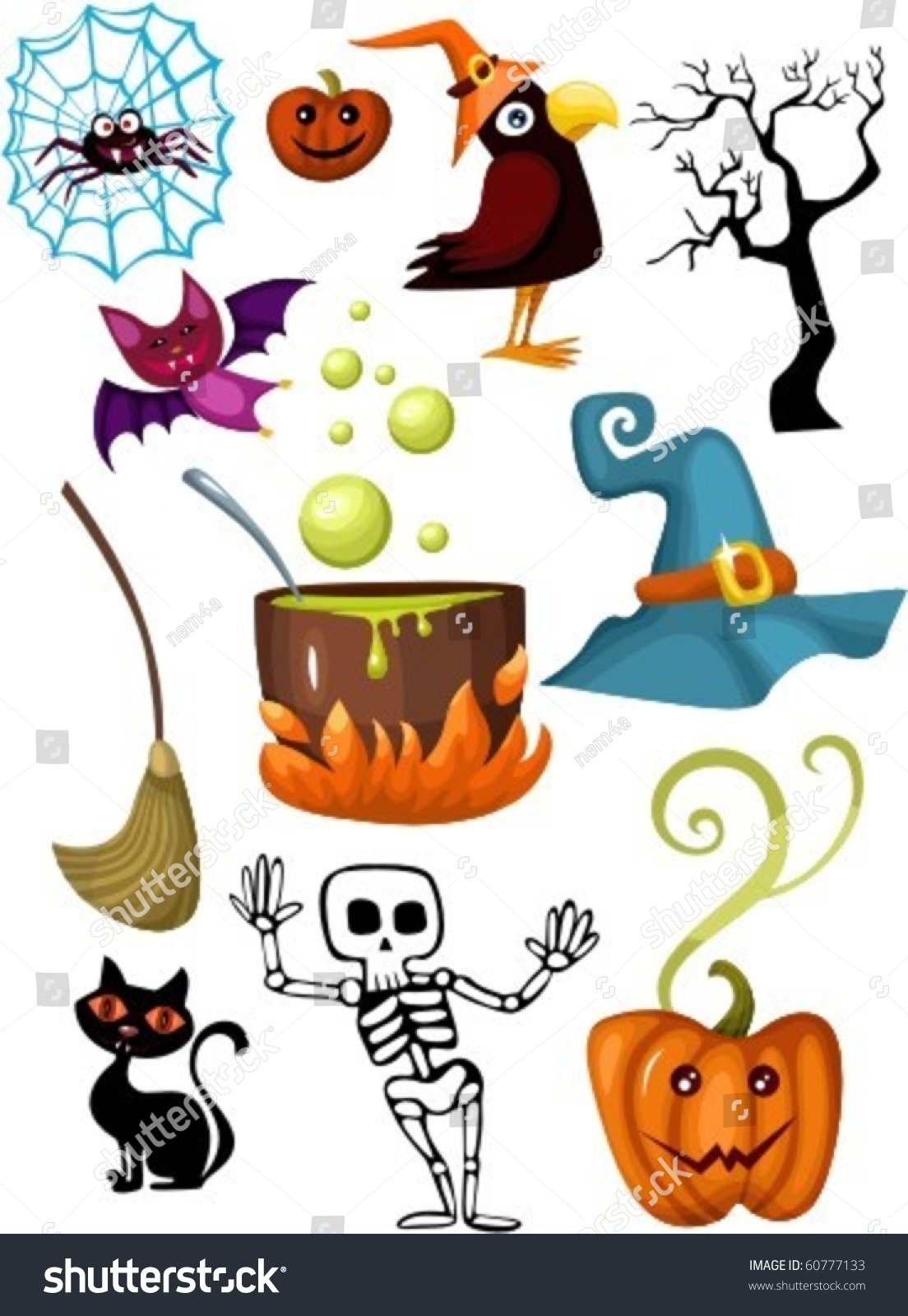 Halloween Hema Halloween Set Stock Vector Royalty Free 60777133 Shutterstock