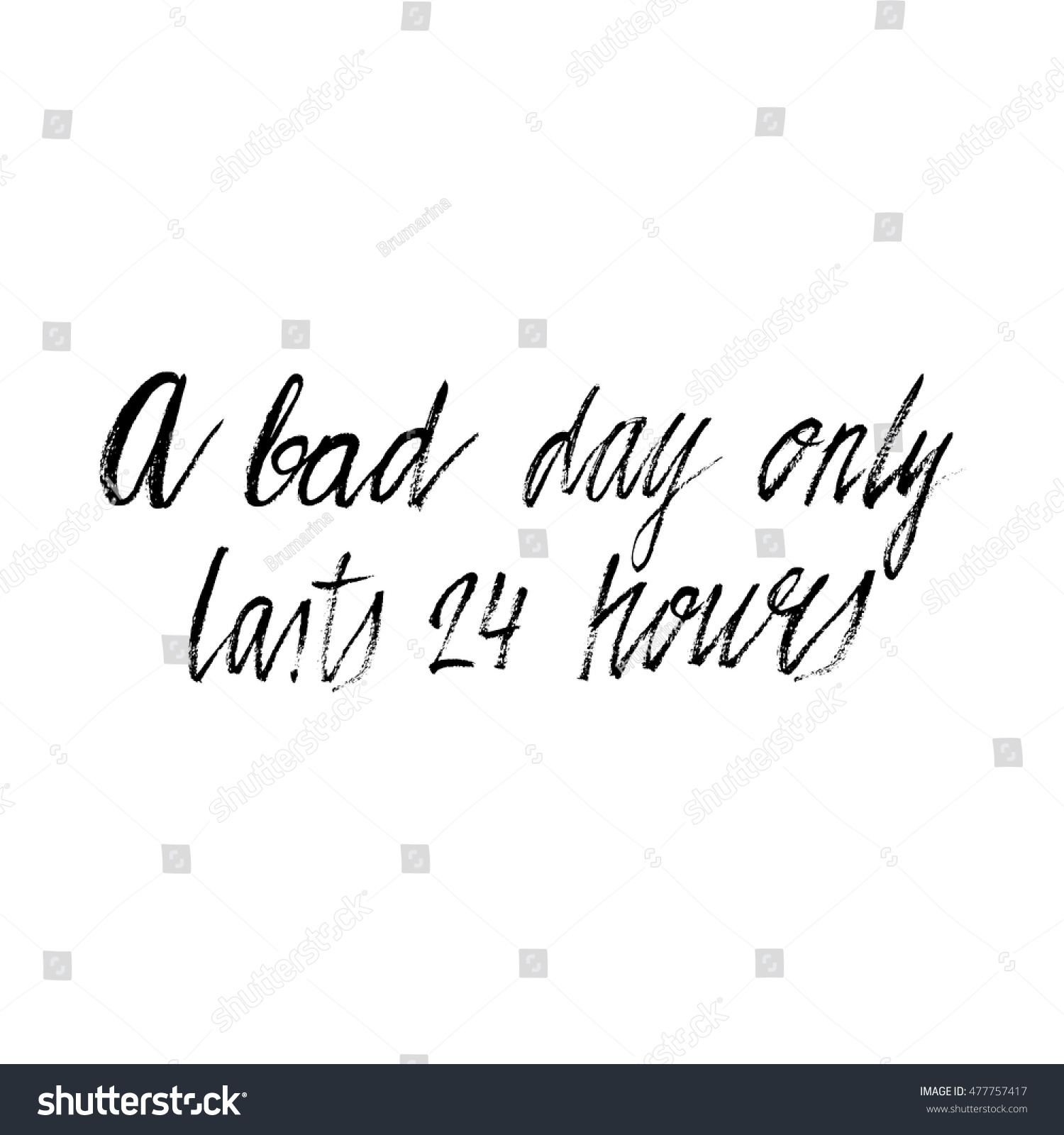 Bad 24 Hand Drawn Phrase Bad Day Only Stock Vector Royalty Free
