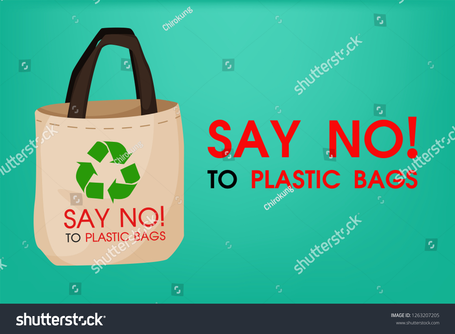 How To Reduse Pollution Ideas Reduce Pollution Say No Plastic Stock Vector Royalty Free