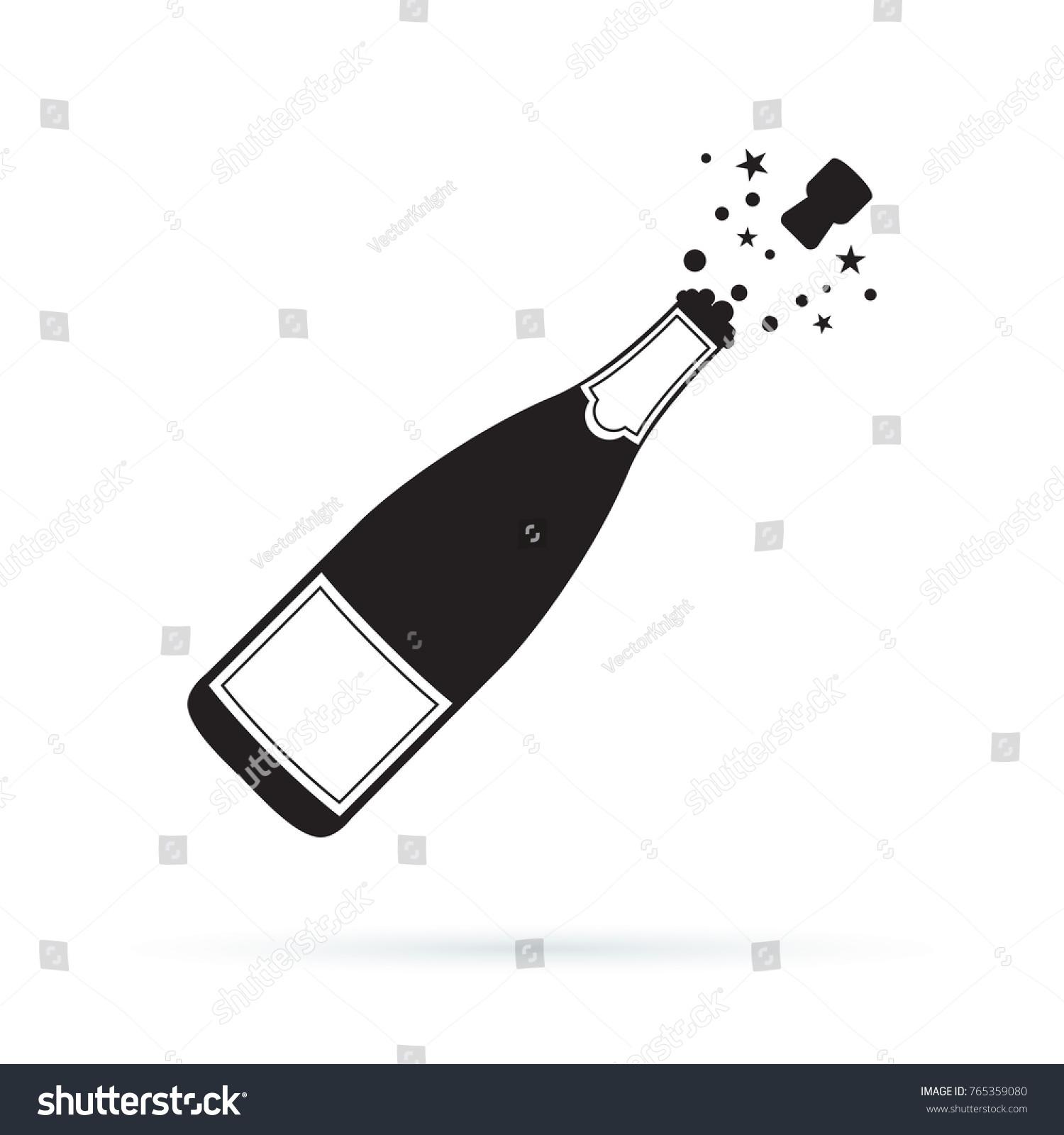 Night Sky 3d Wallpaper Popping Champagne Bottle Silhouette 37759 Tweb