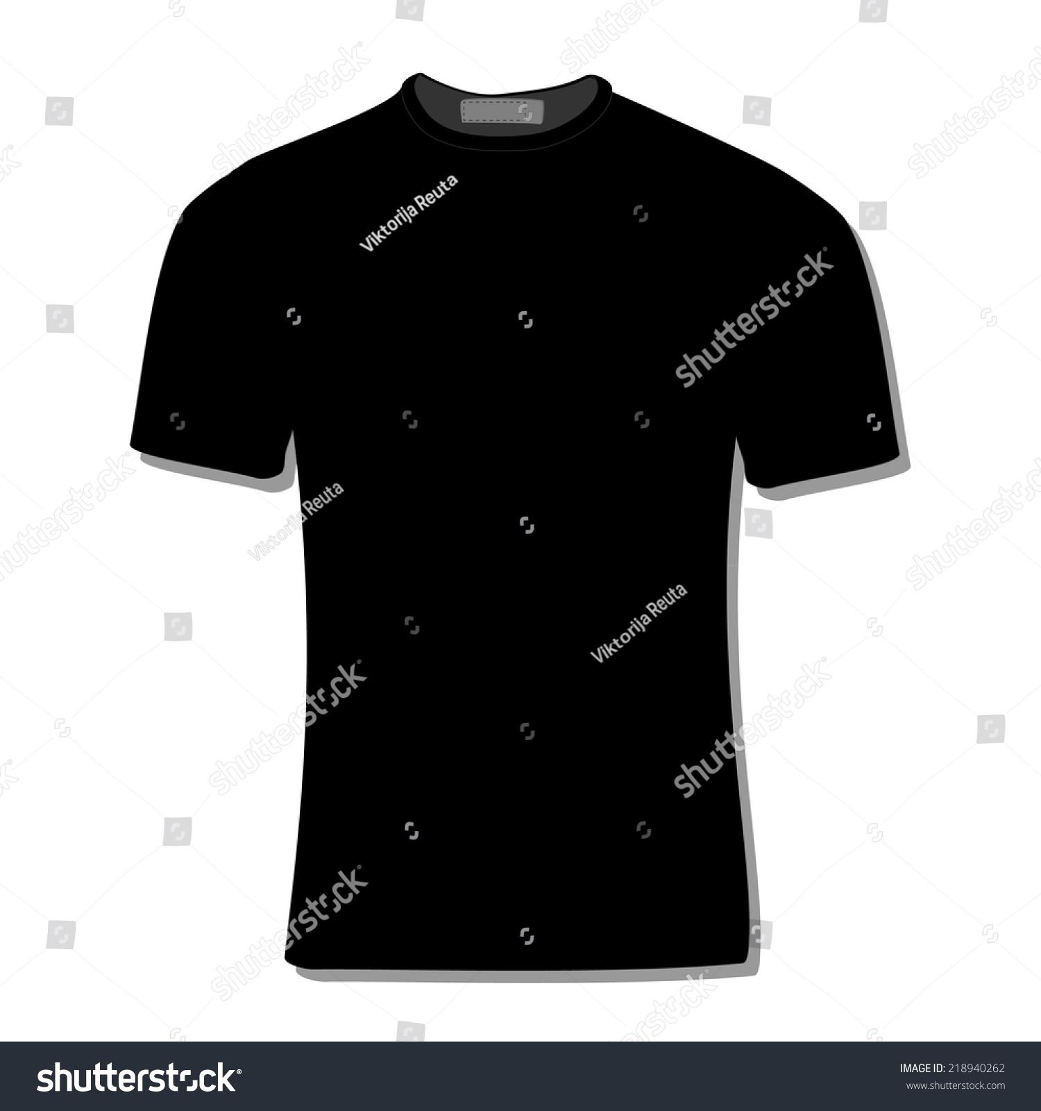 Black t shirt vector - Download