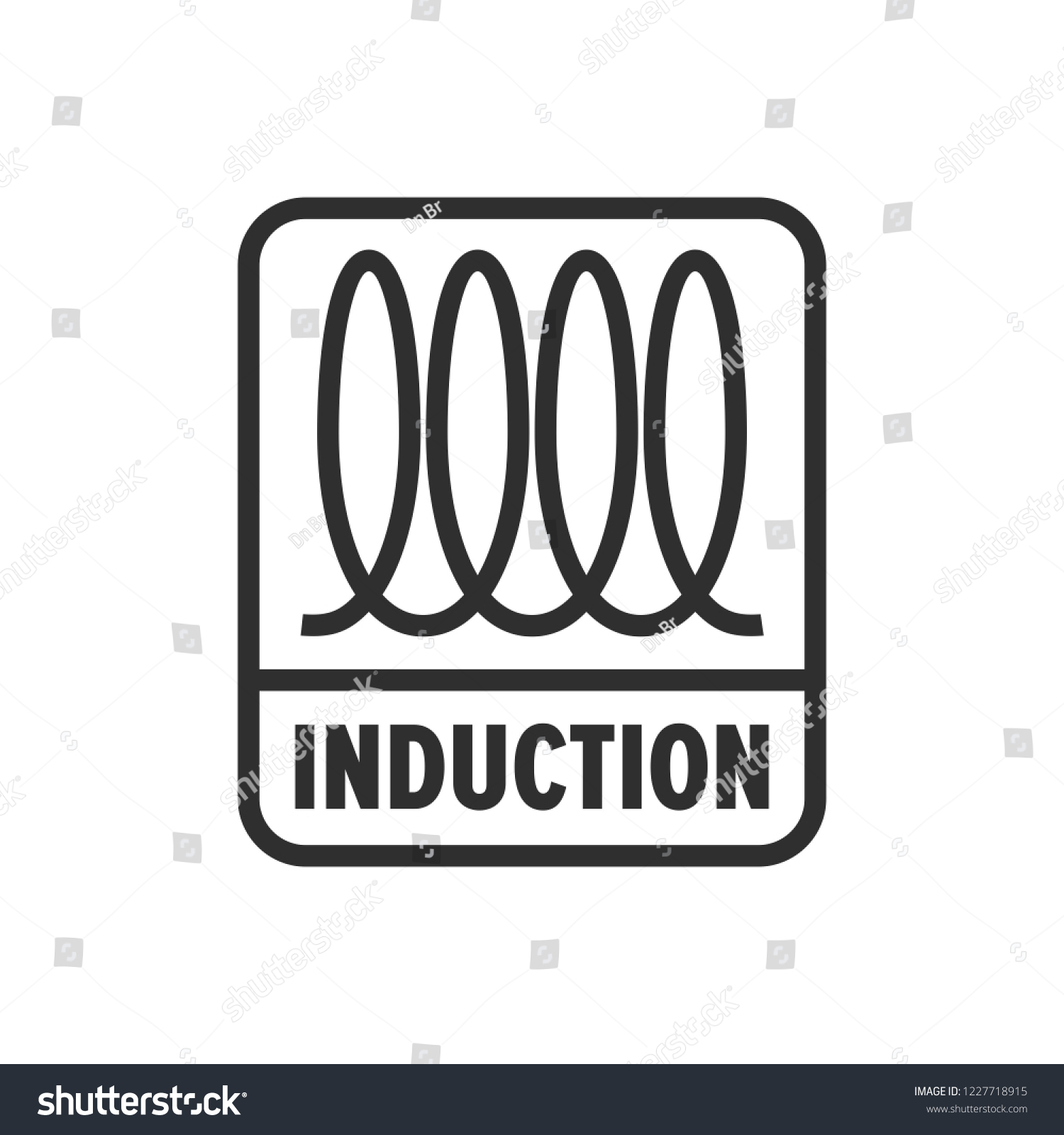 Symbole Induction Induction Cooking Spiral Electrical Sign Image Vectorielle De