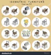 Isometric Chair Furniture Set Stock Vector 598590725 ...