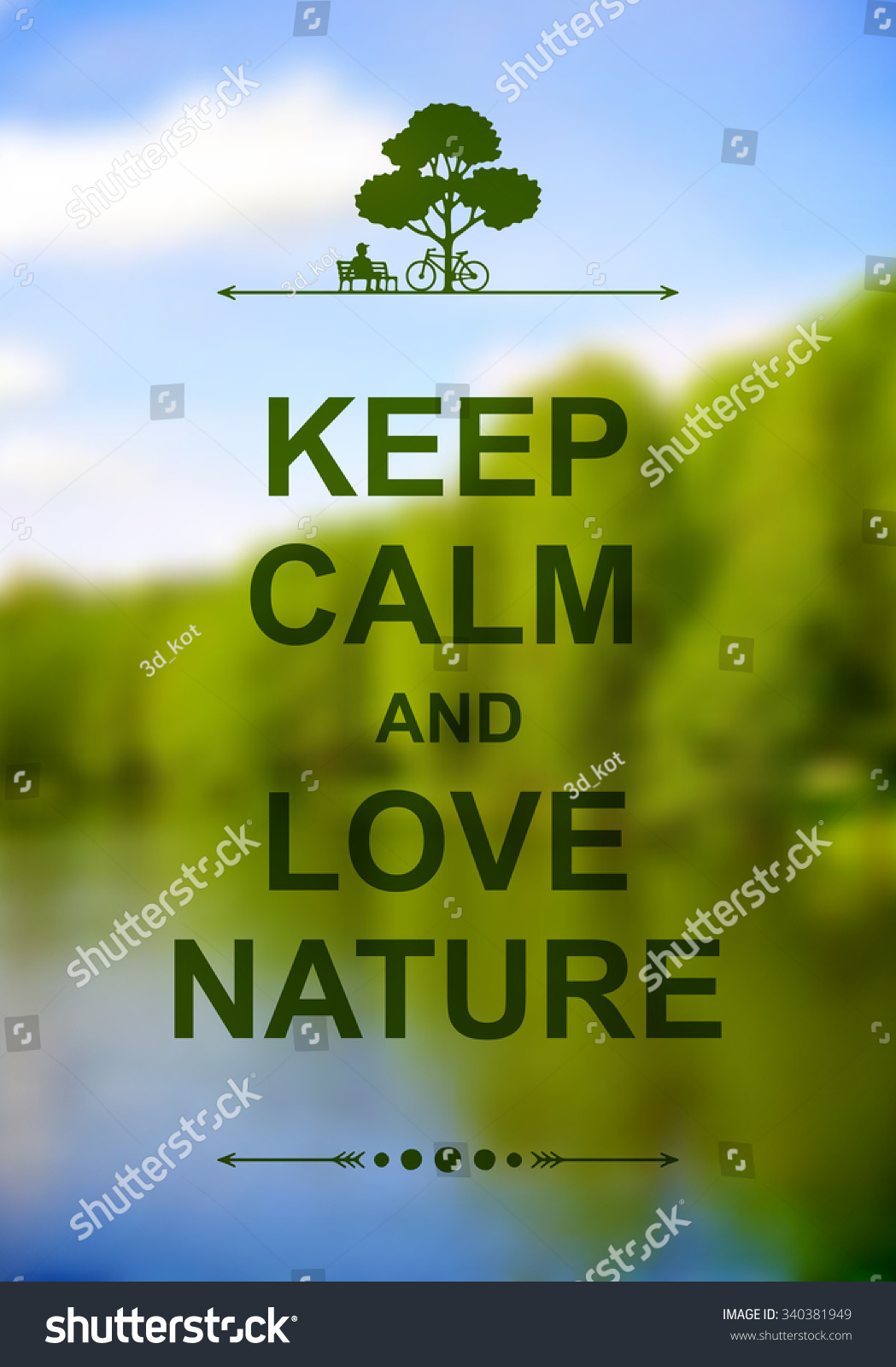 Wandposter Natur Keep Calm Love Nature Poster Blurred Stock Vector Royalty Free