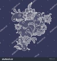 Lace Flowers Decoration Element Stock Vector 376607386 ...