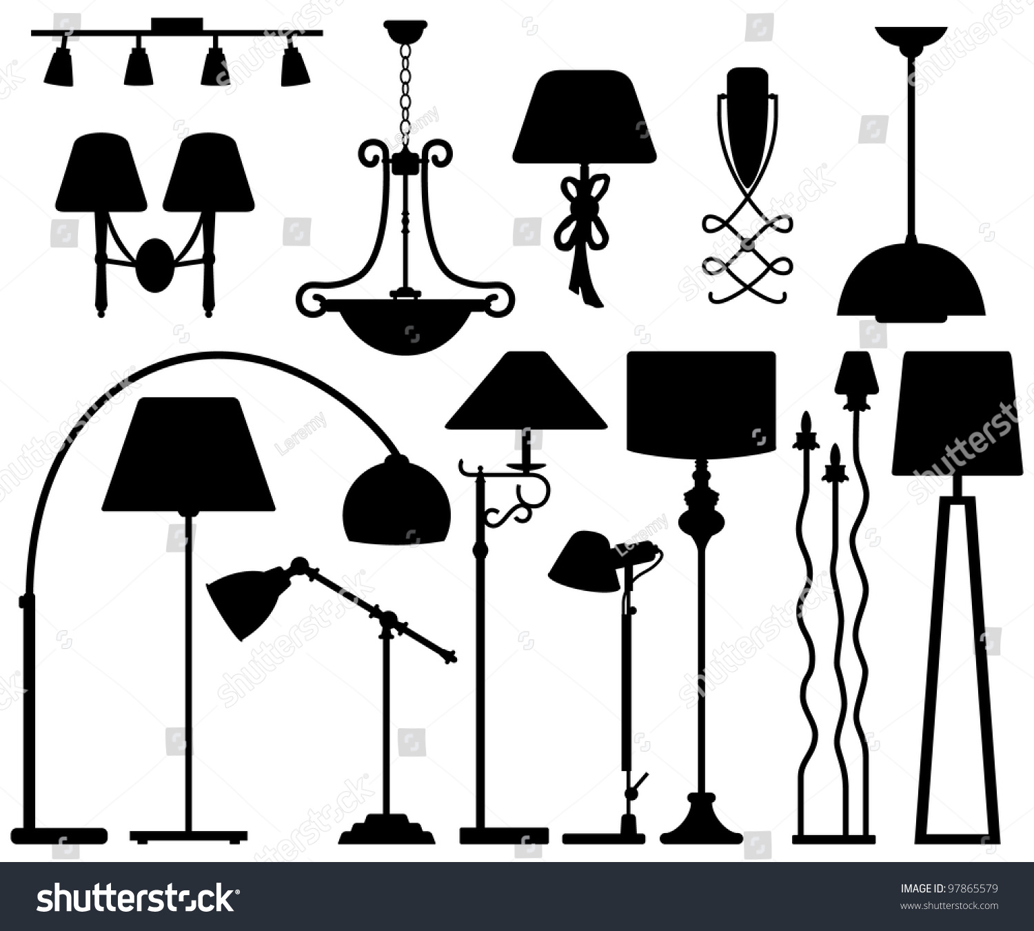 Ceiling Design Vector Lamp Design For Floor Ceiling Wall Stock Vector