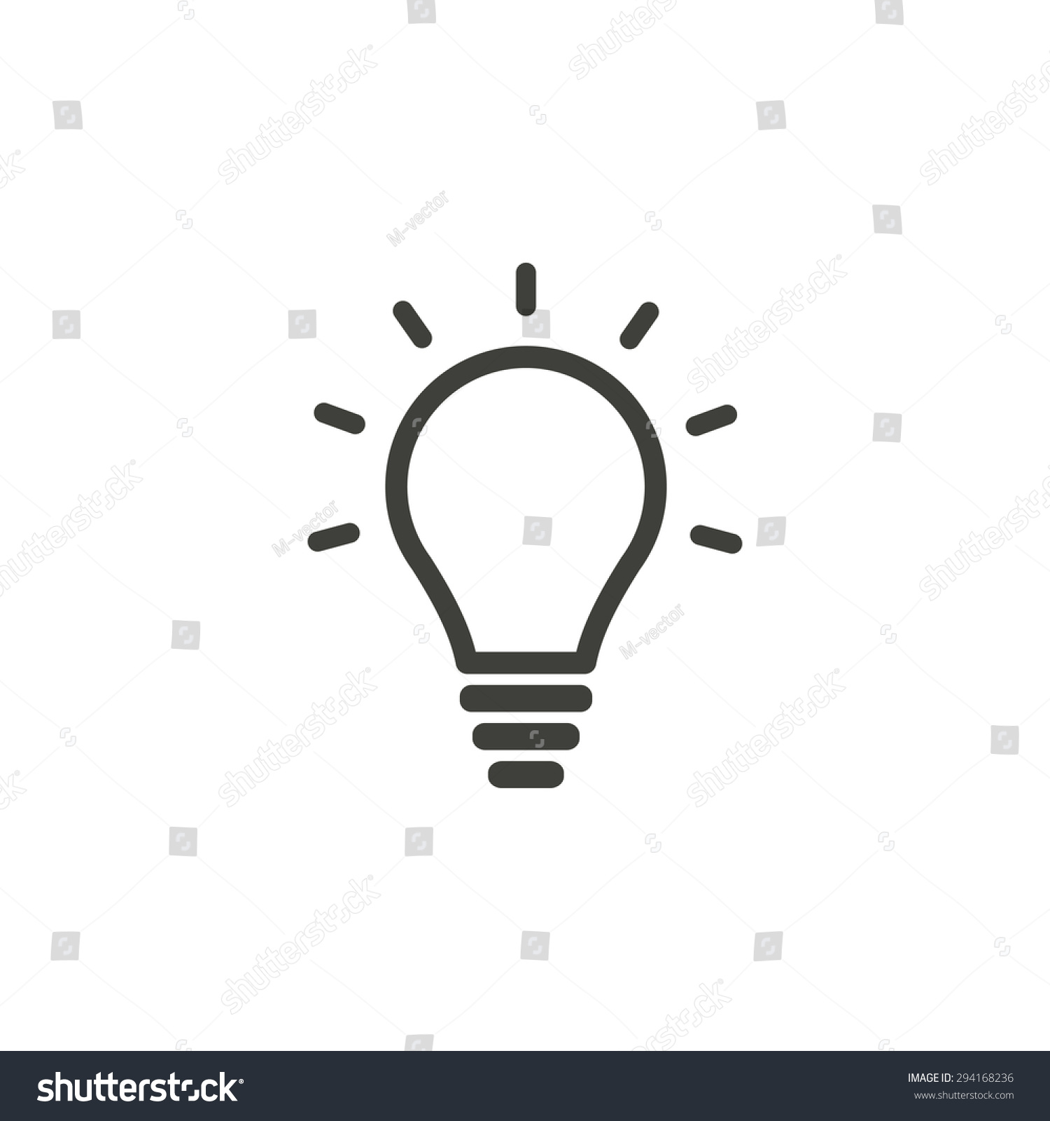 Incandescent Lamp Symbol Lamp Line Icon On White Background Vector Illustration