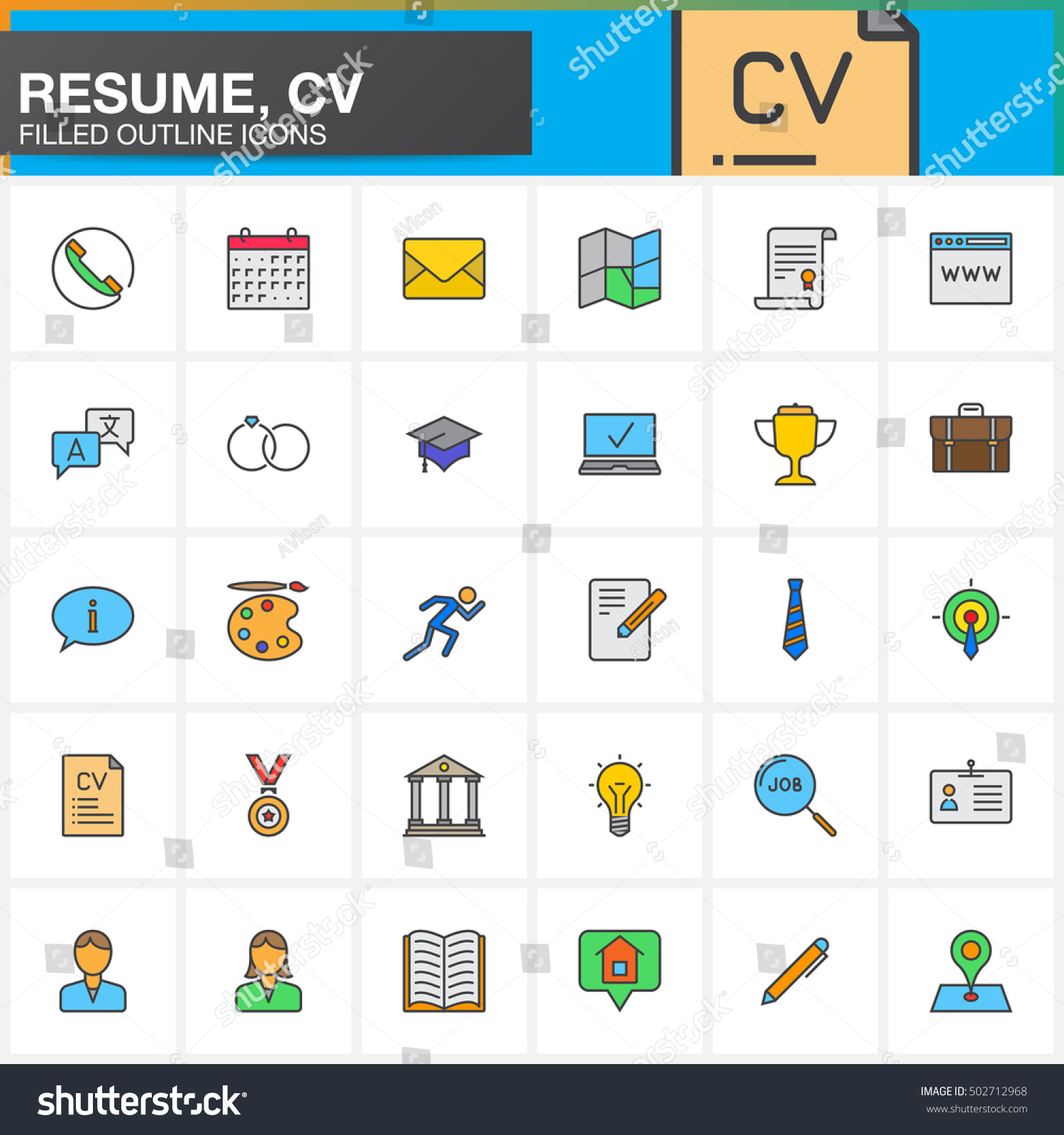pictograms cv free