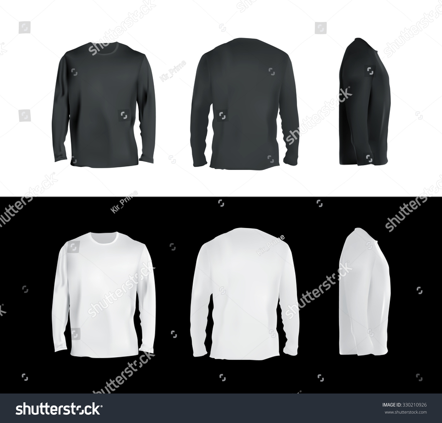 Black t shirt plain front and back -  T Shirt Templates Collection Front Back Download