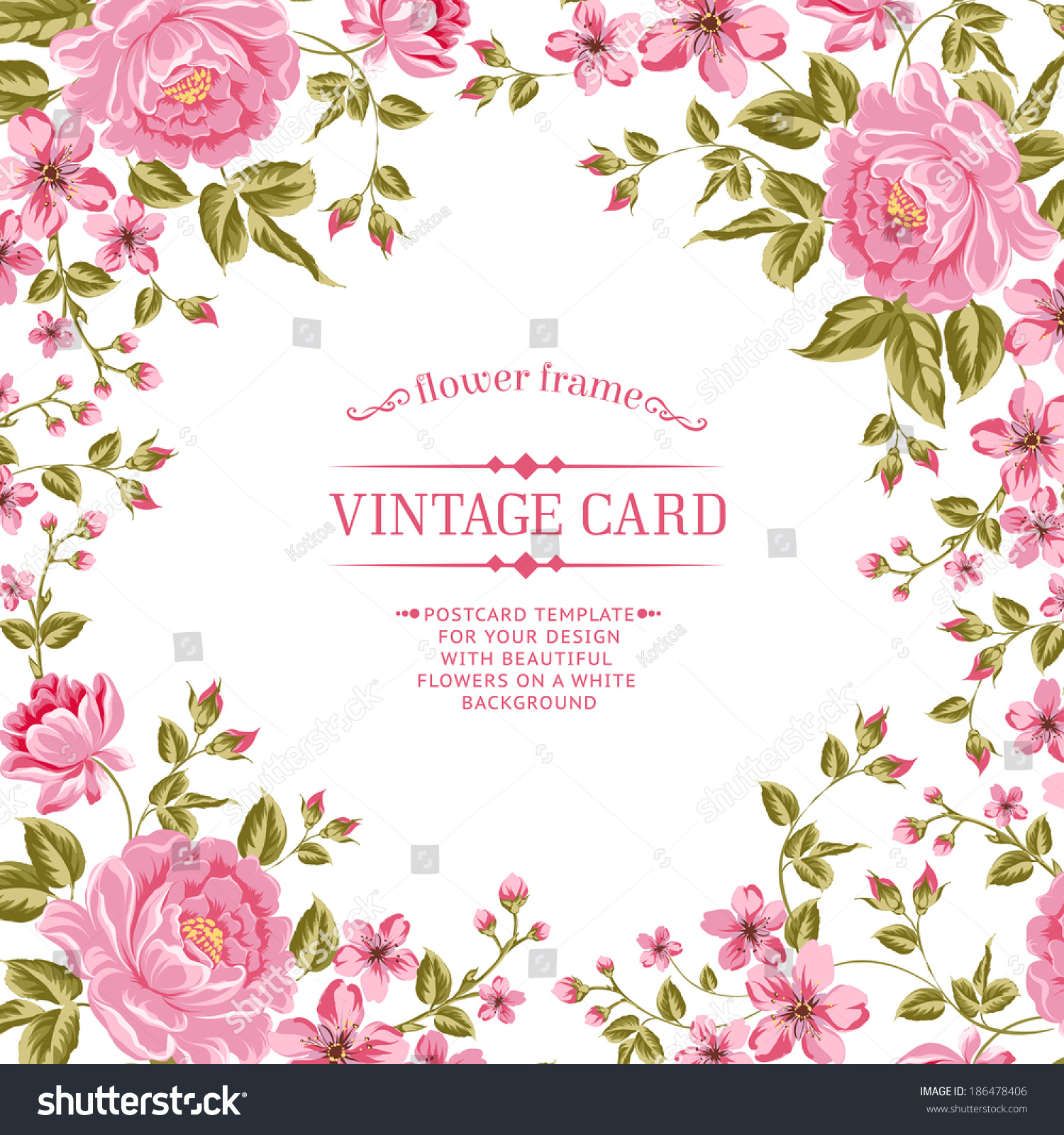 Art Design Bilder Luxurious Color Peony Background Vintage Label Stock