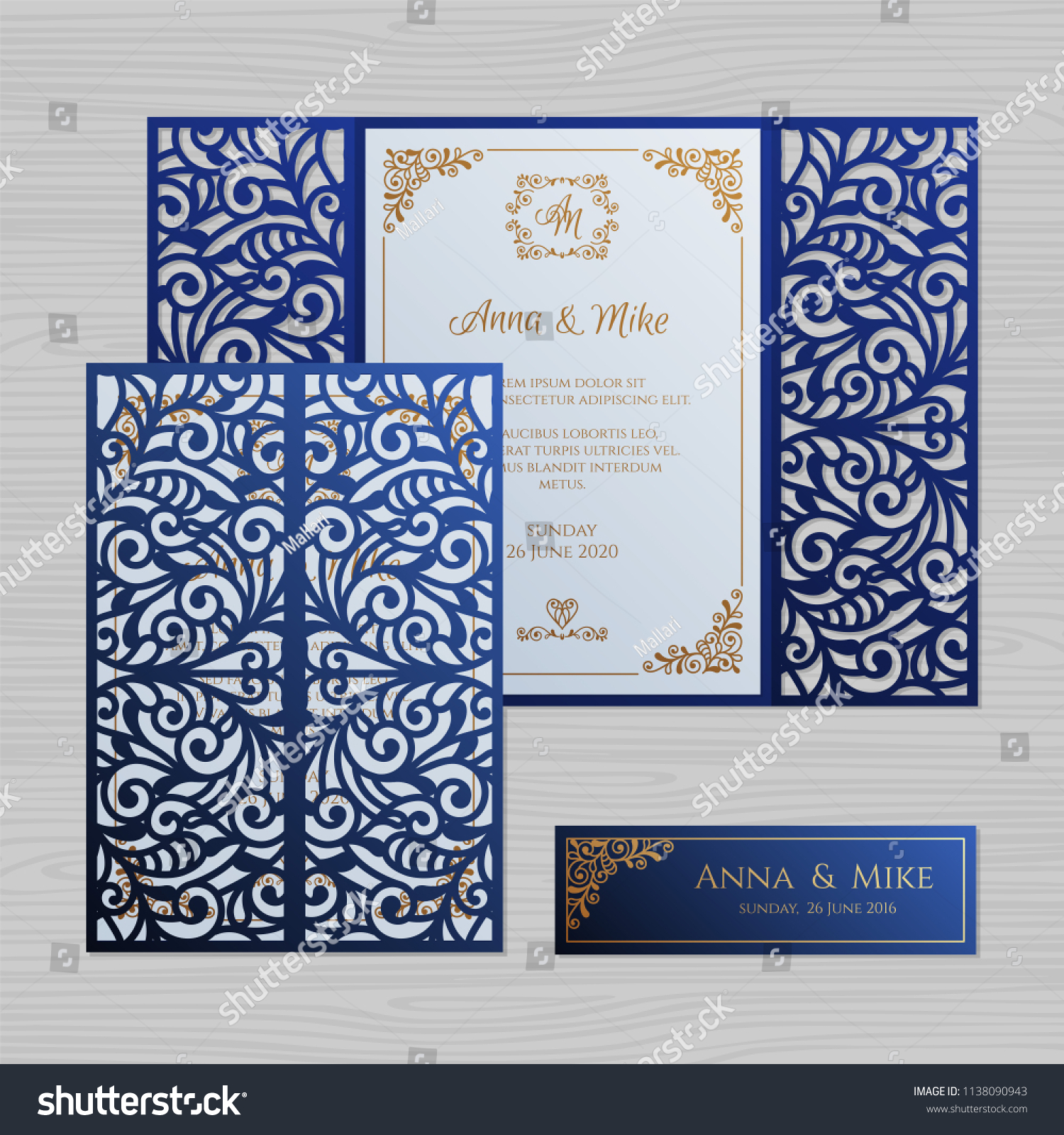 Ra T Vel Luxury Wedding Invitation Greeting Card Vintage Stock Vector