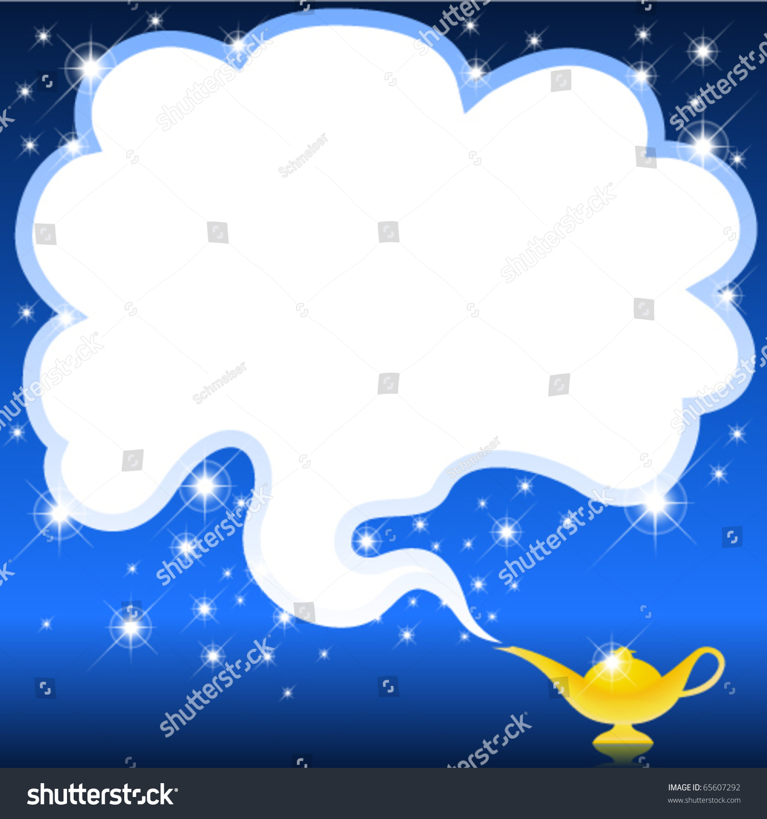 Aladdin Lamp Smoke Magical Genie Lamp Smoke Space Text Stock Vector 65607292