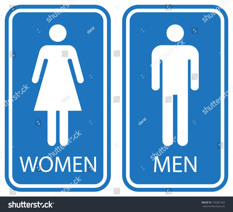 318281342 Male Female Bathroom  Download. Female Bathroom Signs