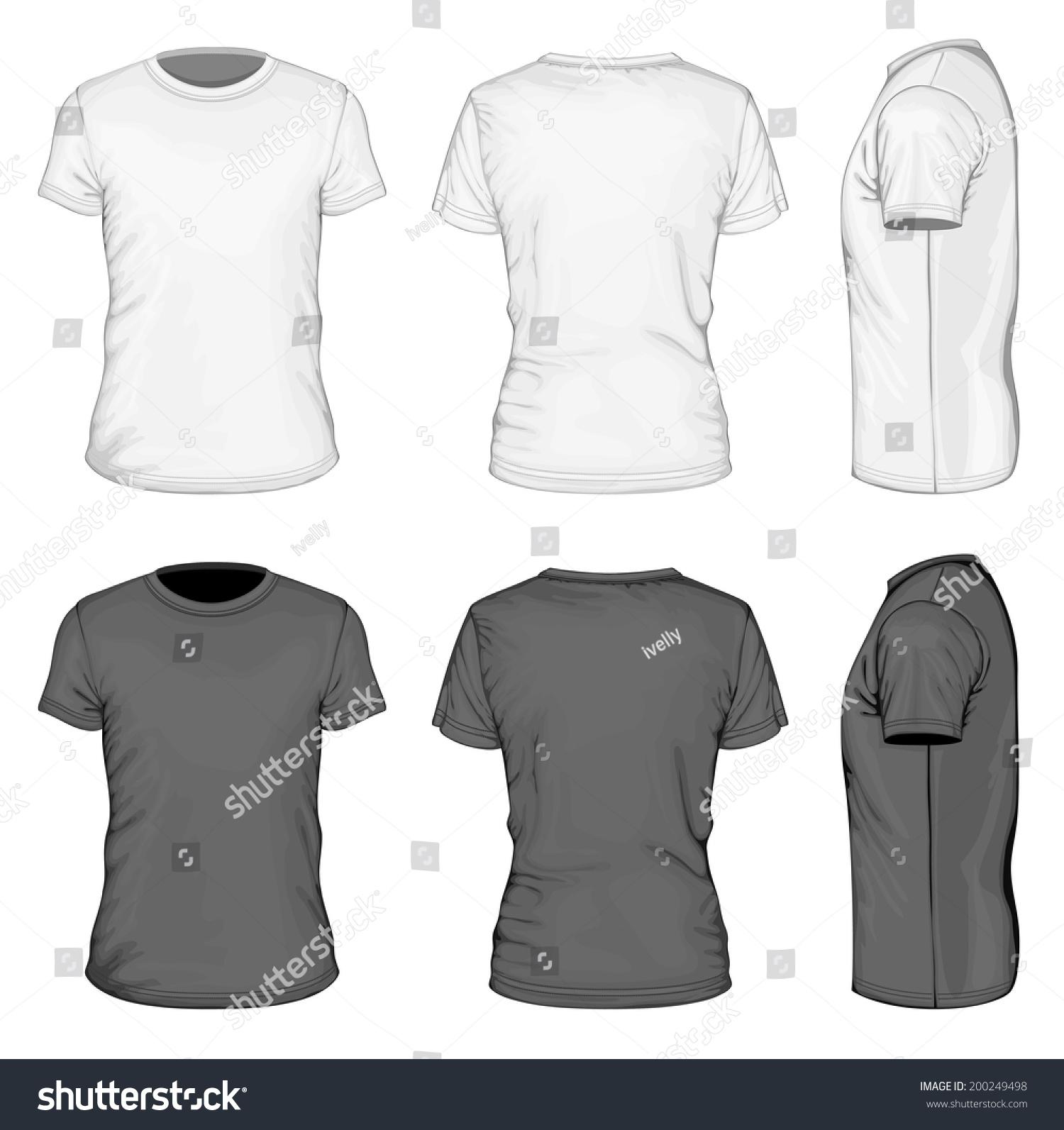 Black t shirt front and back plain - Black T Shirt Front And Back Plain T Shirt Outline Image Black T Shirt Front