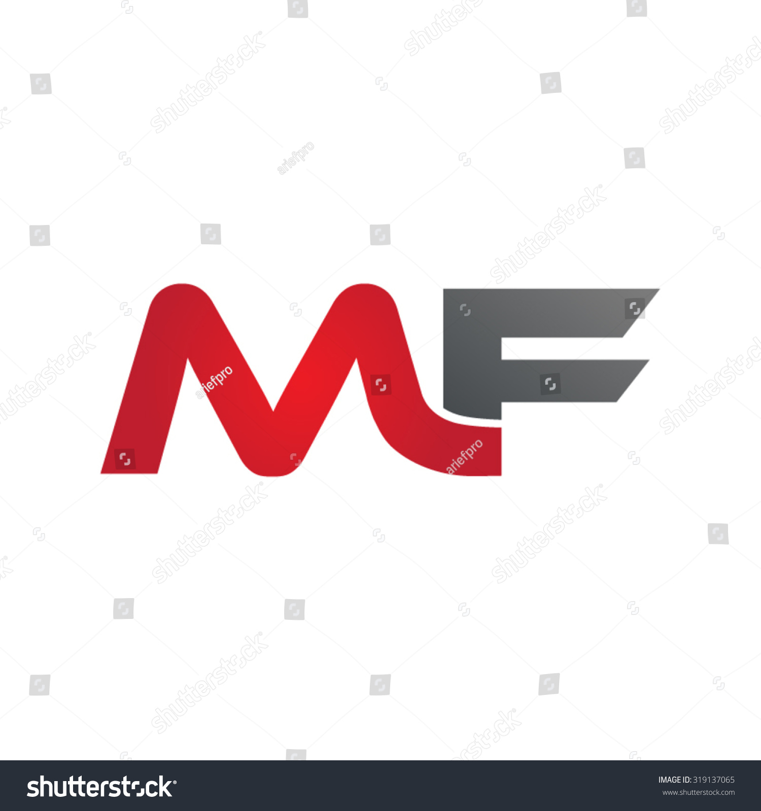 Mf Group Mf Company Group Linked Letter Logo Stock Vector Royalty Free
