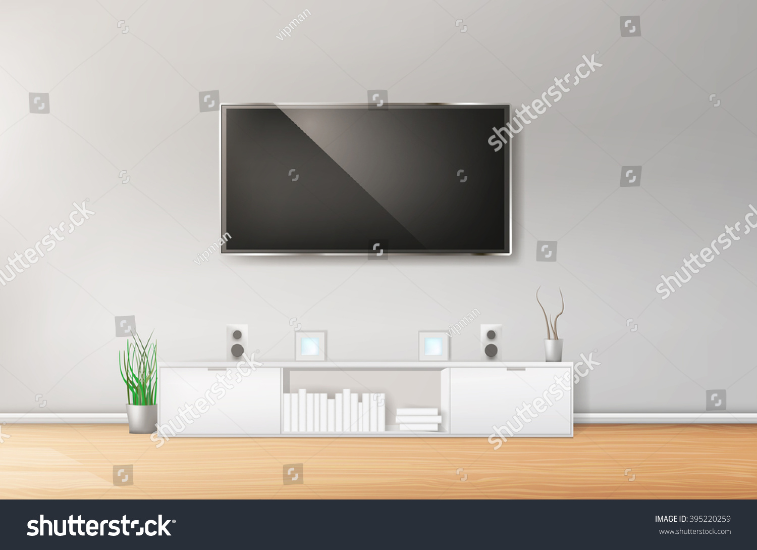 Hi Fi Tv Modern Living Room With Tv And Hifi Equipment Ez Canvas