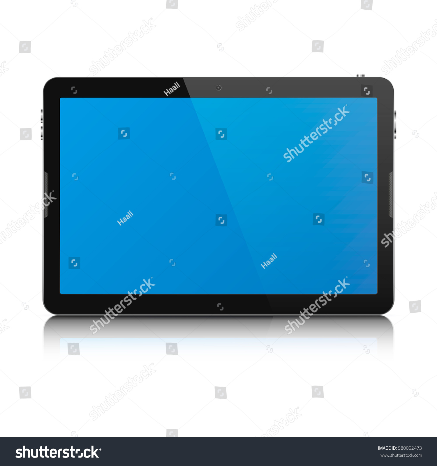 Tablett Modern Modern Touch Screen Tablet Computer Isolated Stock Vector