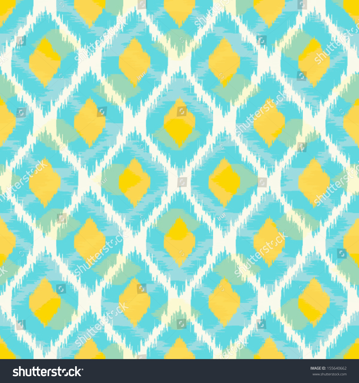 Cute Tribal Patterns Wallpaper Modern Tribal Ikat Blue Yellow Fashion Stock Vector
