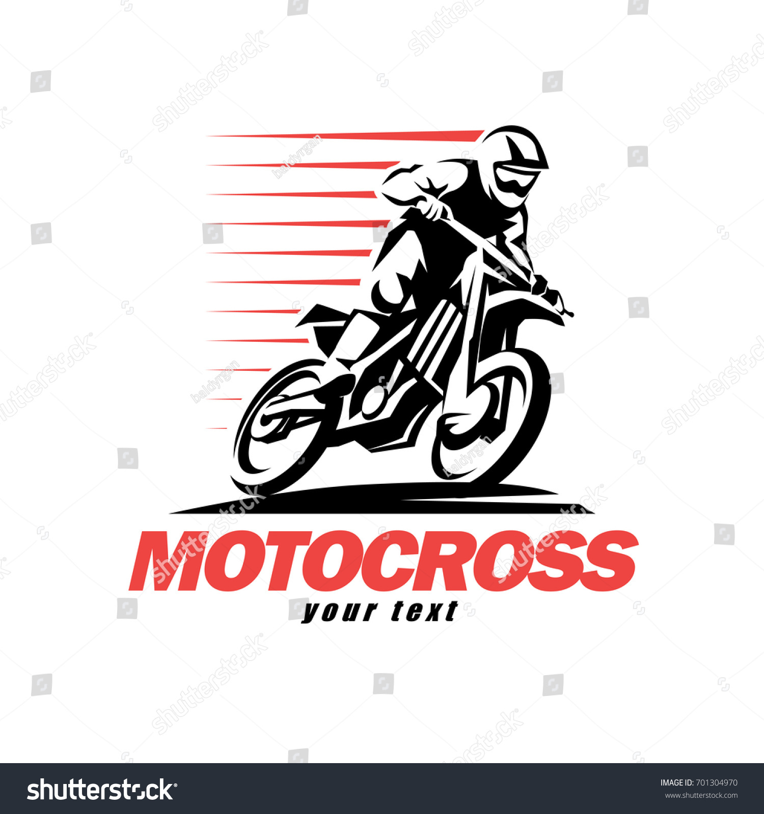 Motorcycle Racing Logo Design Motocross Stylized Vector Symbol Design Elements Stock Vector