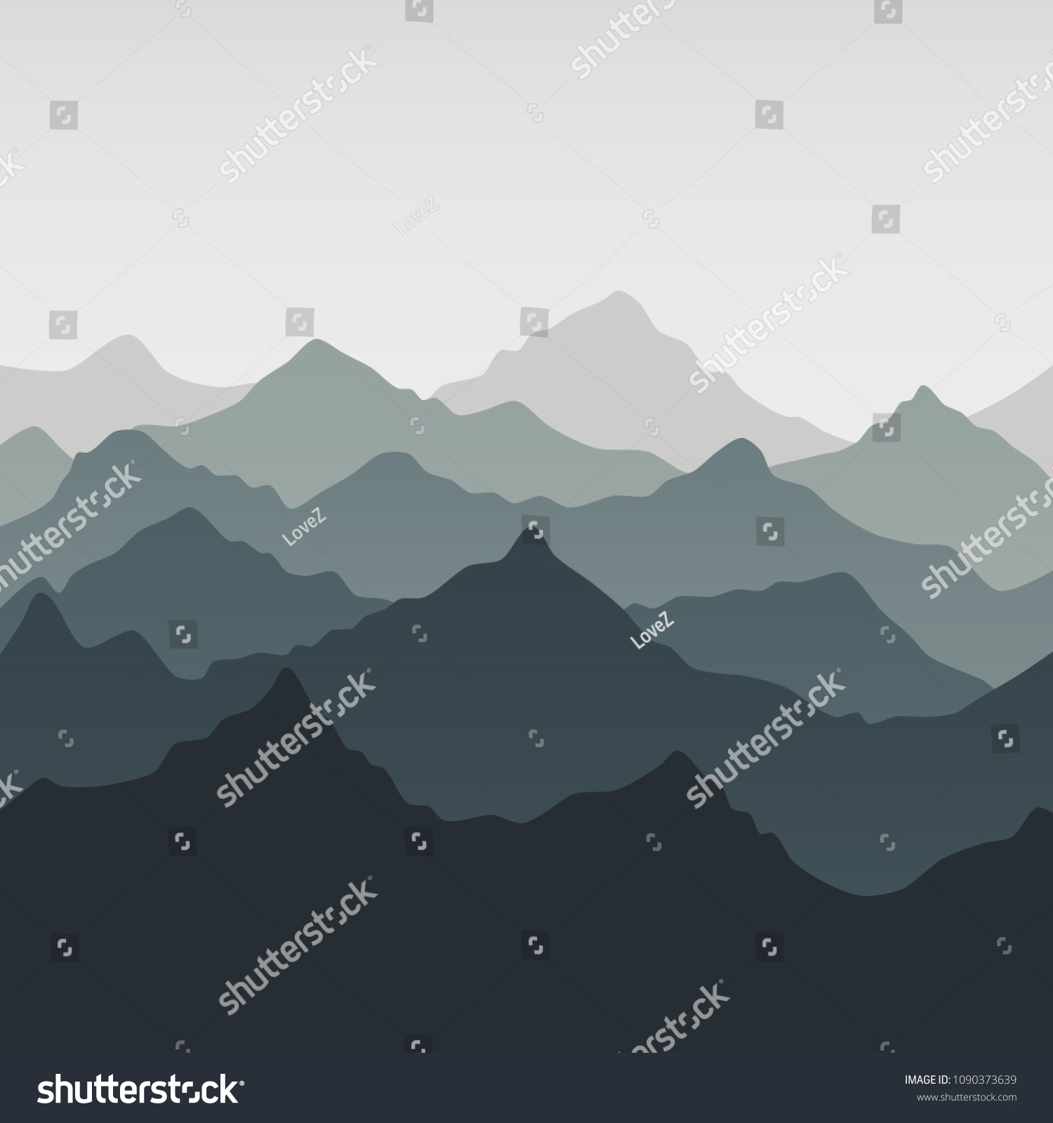 Decoration Massif Mountainscape Wall Decoration Trendy Print China Stock Vector