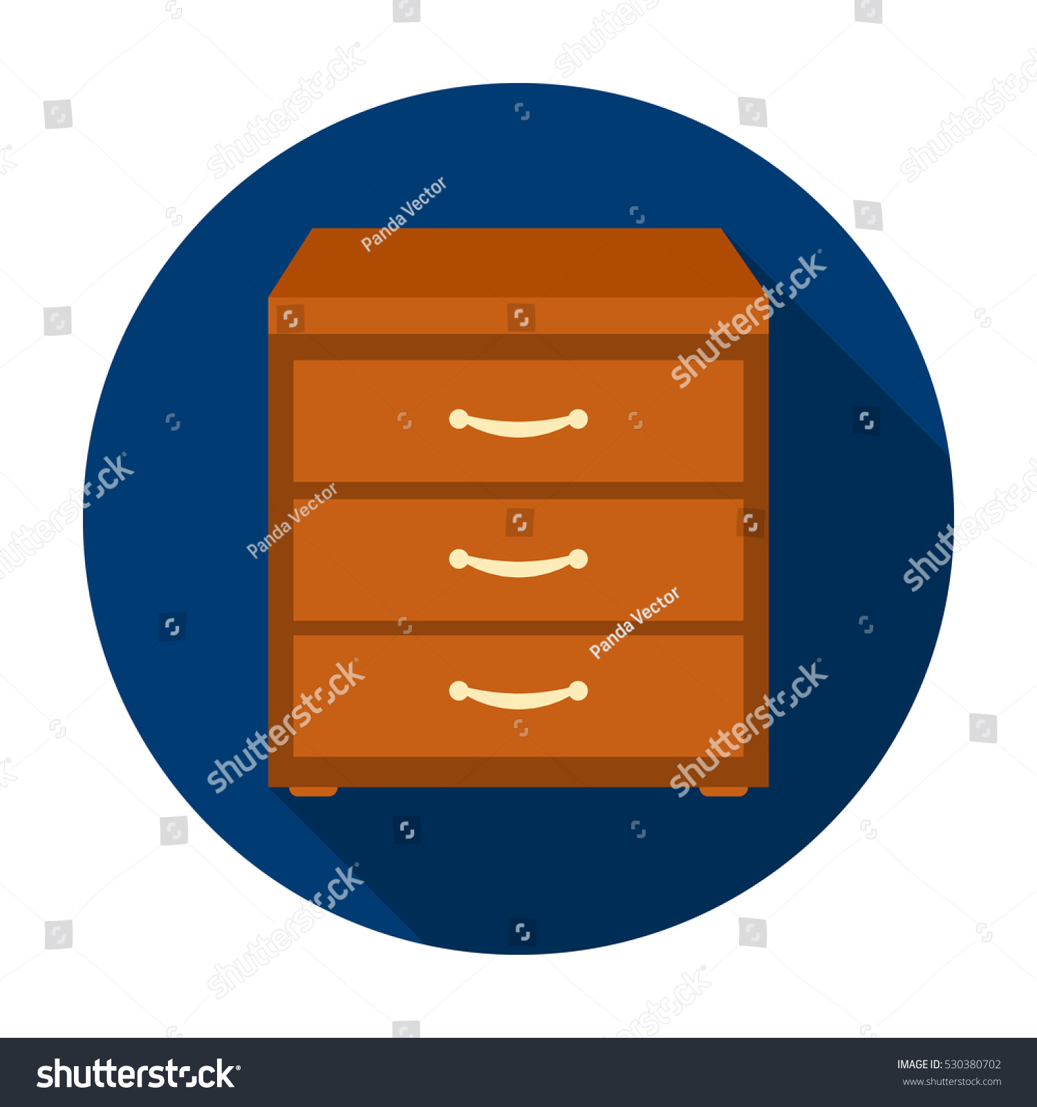 Filing Cabinet Icon Flat Office Filing Cabinet Icon Flat Style Stock Vector Royalty Free
