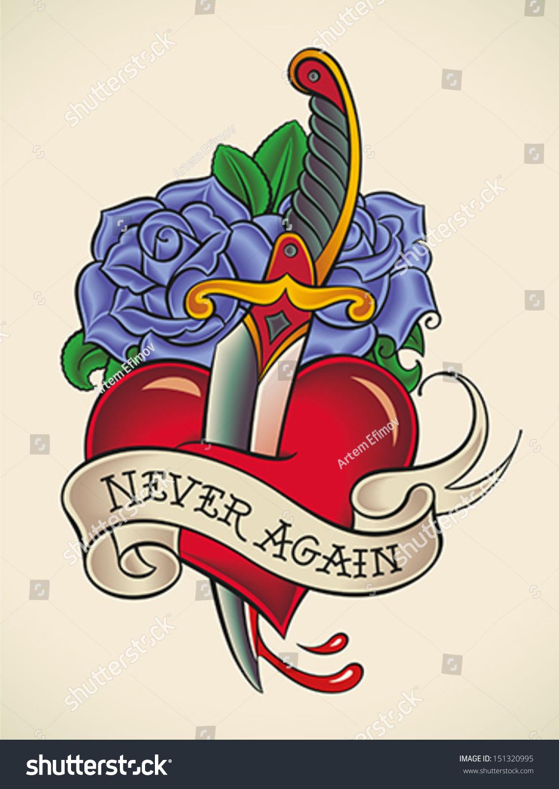 Heart with sword through it logo www imgkid com the