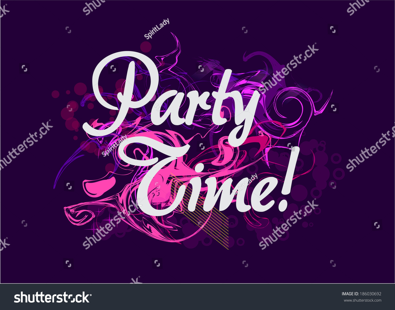 Party Time Party Time Background Vector Music Poster Stock Vector Royalty