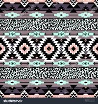 Pastel Color Tribal Navajo Seamless Pattern Stock Vector ...