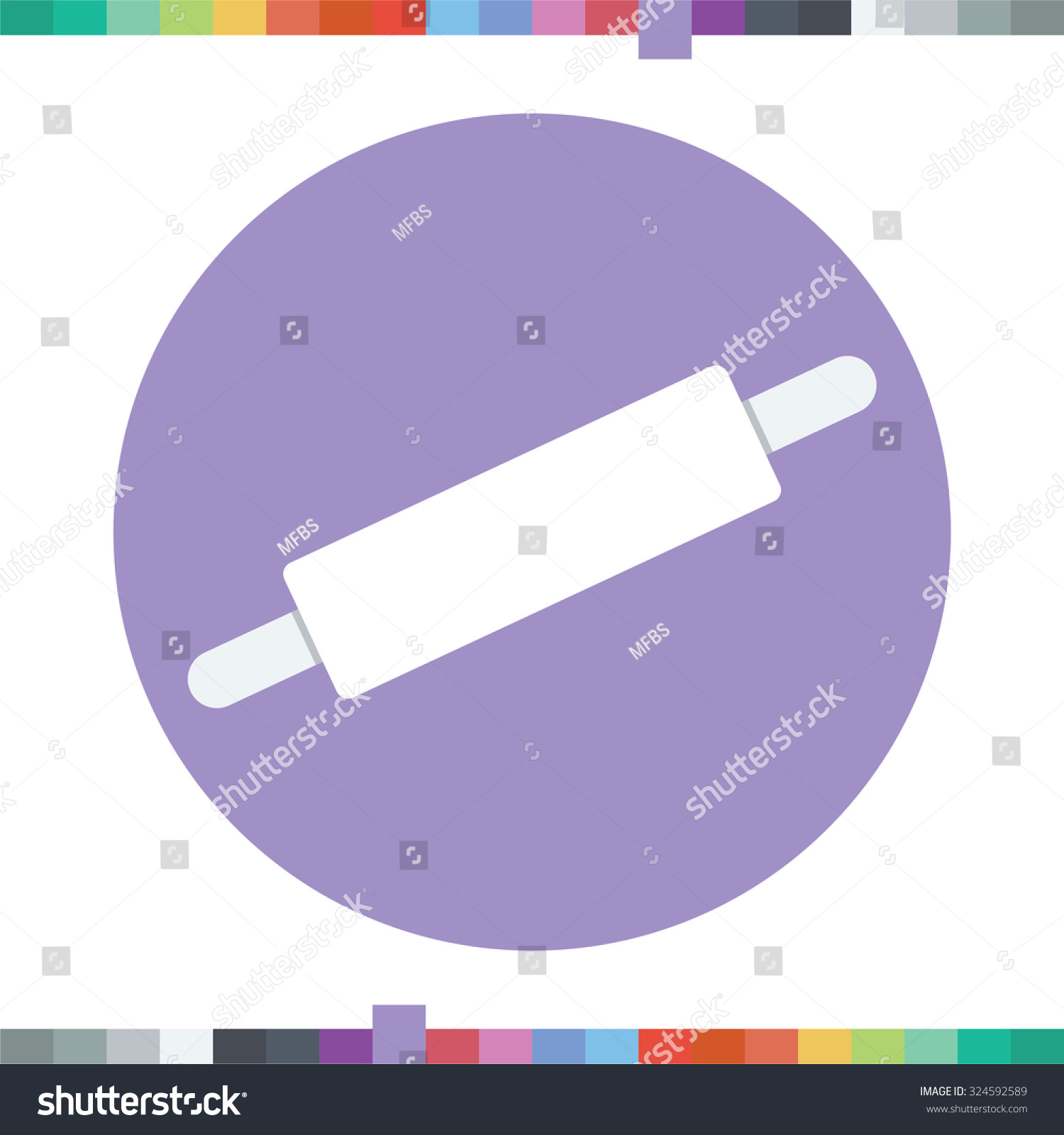 Pizza Roller Pizza Roller Icon Stock Vector Royalty Free 324592589 Shutterstock