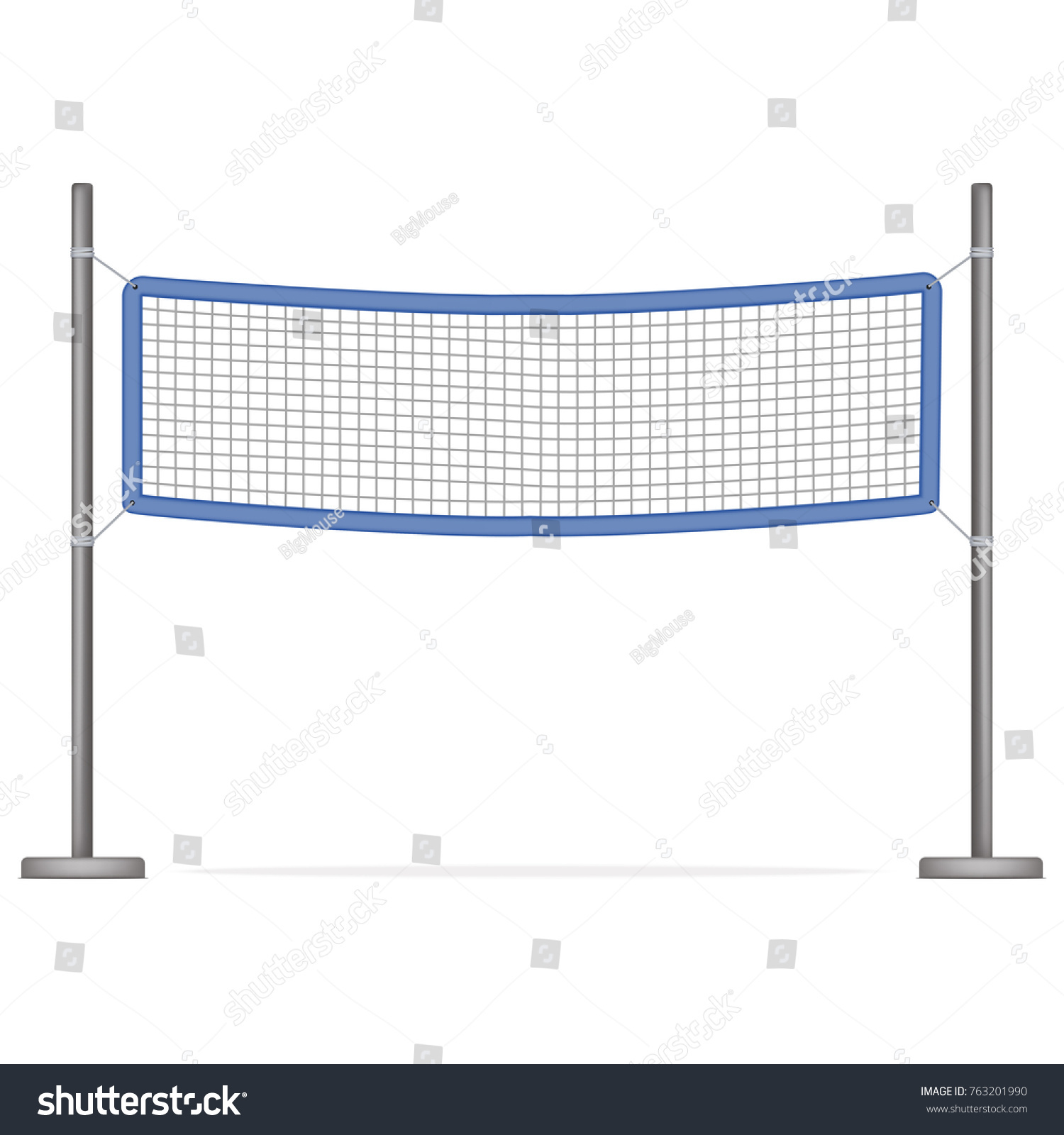 3d Net Realistic Detailed 3 D Volleyball Net Sport Stock Vector Royalty