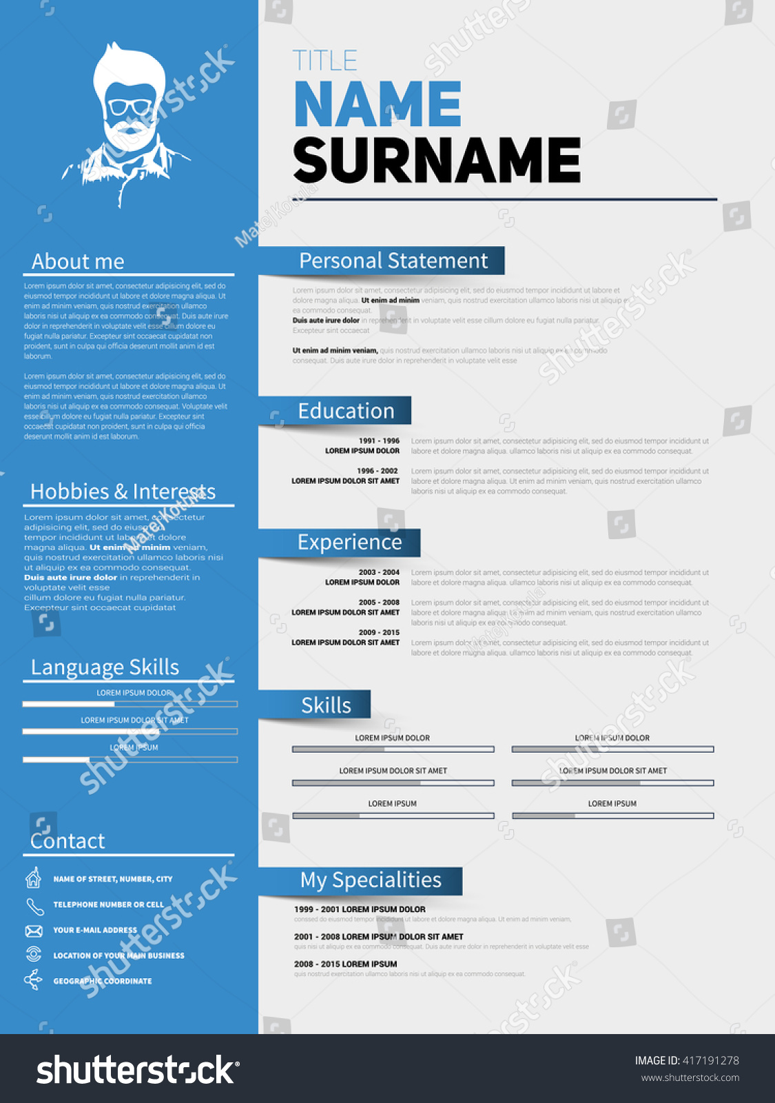 the applicant resume cv html template