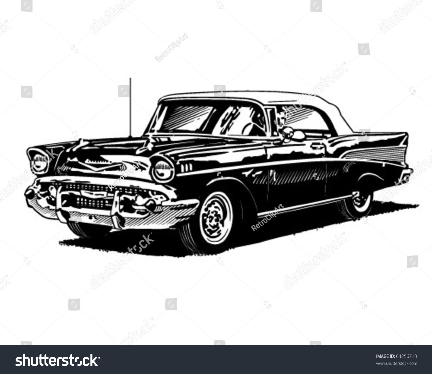 Trabant Clipart Retro Convertible Clipart Illustration Stock Vector Royalty Free