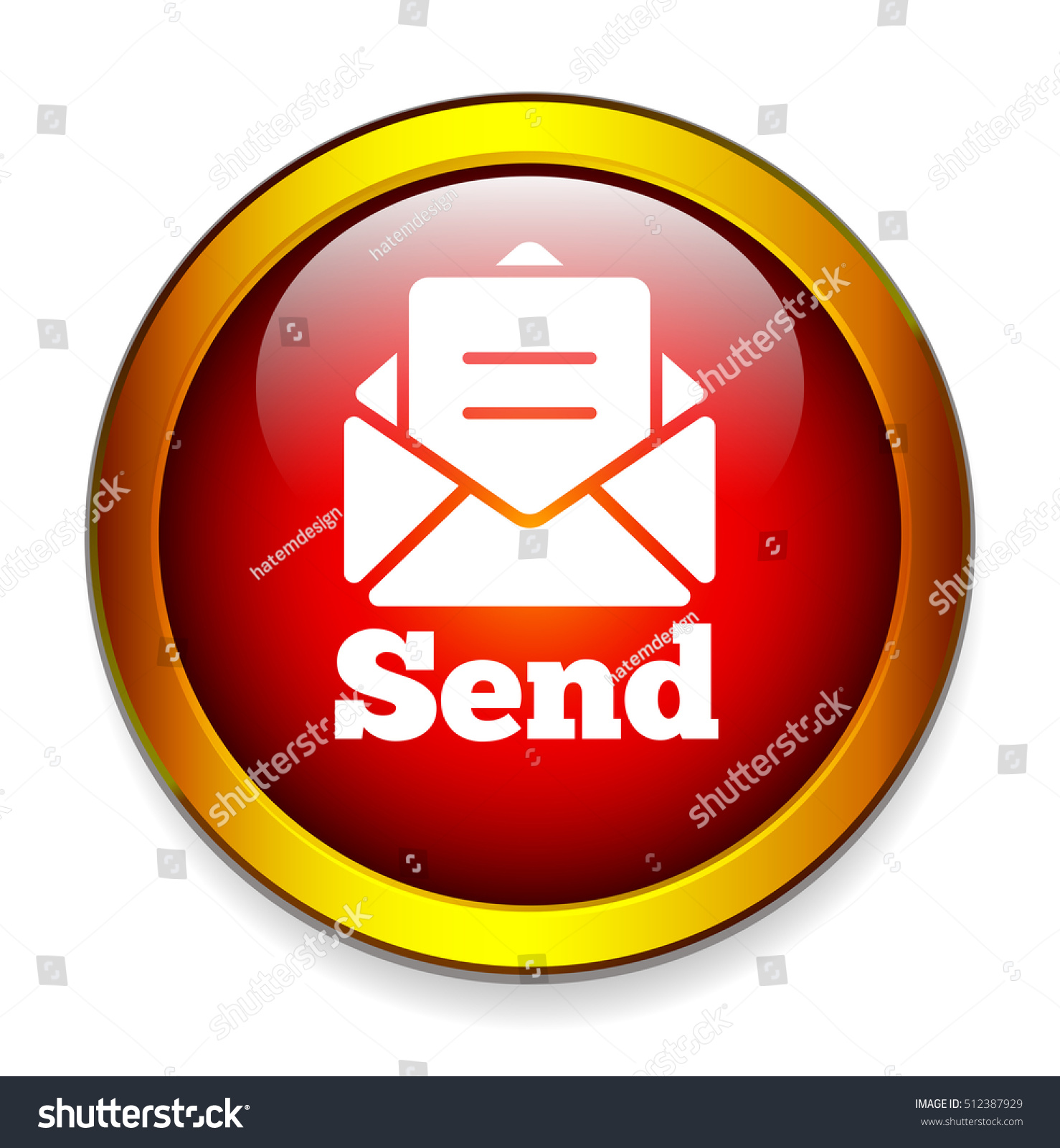Email Icon Isolated On Special Yellow Square Button Abstract Send Button Stock Vector 512387929 Shutterstock