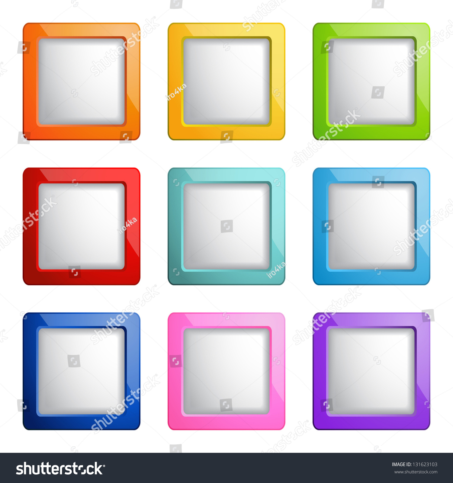 Email Icon Isolated On Special Yellow Square Button Abstract Set Square Web Buttons Stock Vector 131623103 Shutterstock
