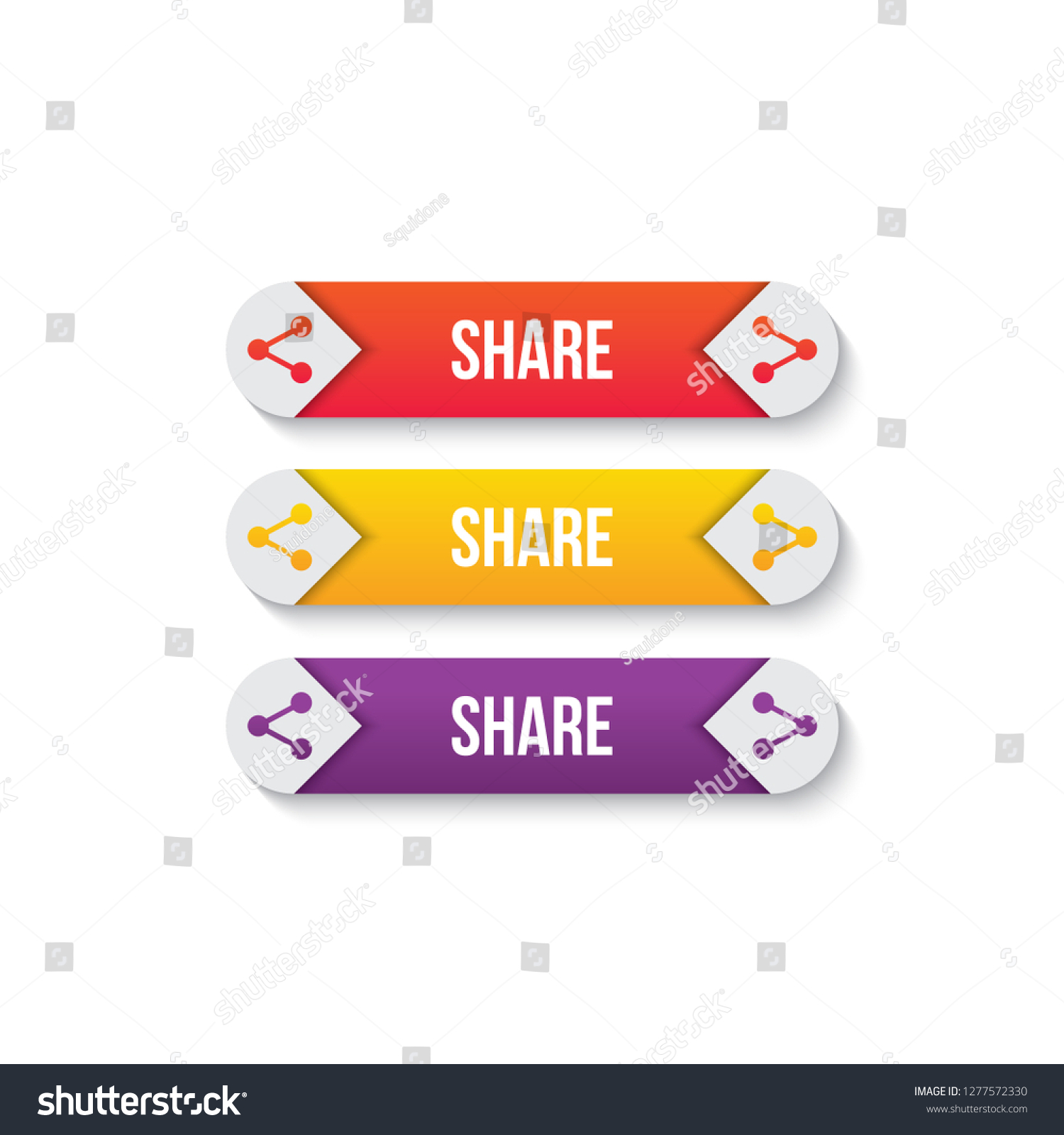 Share Websites Share Button Icon Link Button Websites Stock Vector Royalty Free