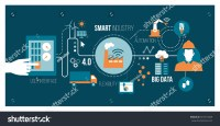 Smart Industry 40 Automation User Interface Stock Vector ...