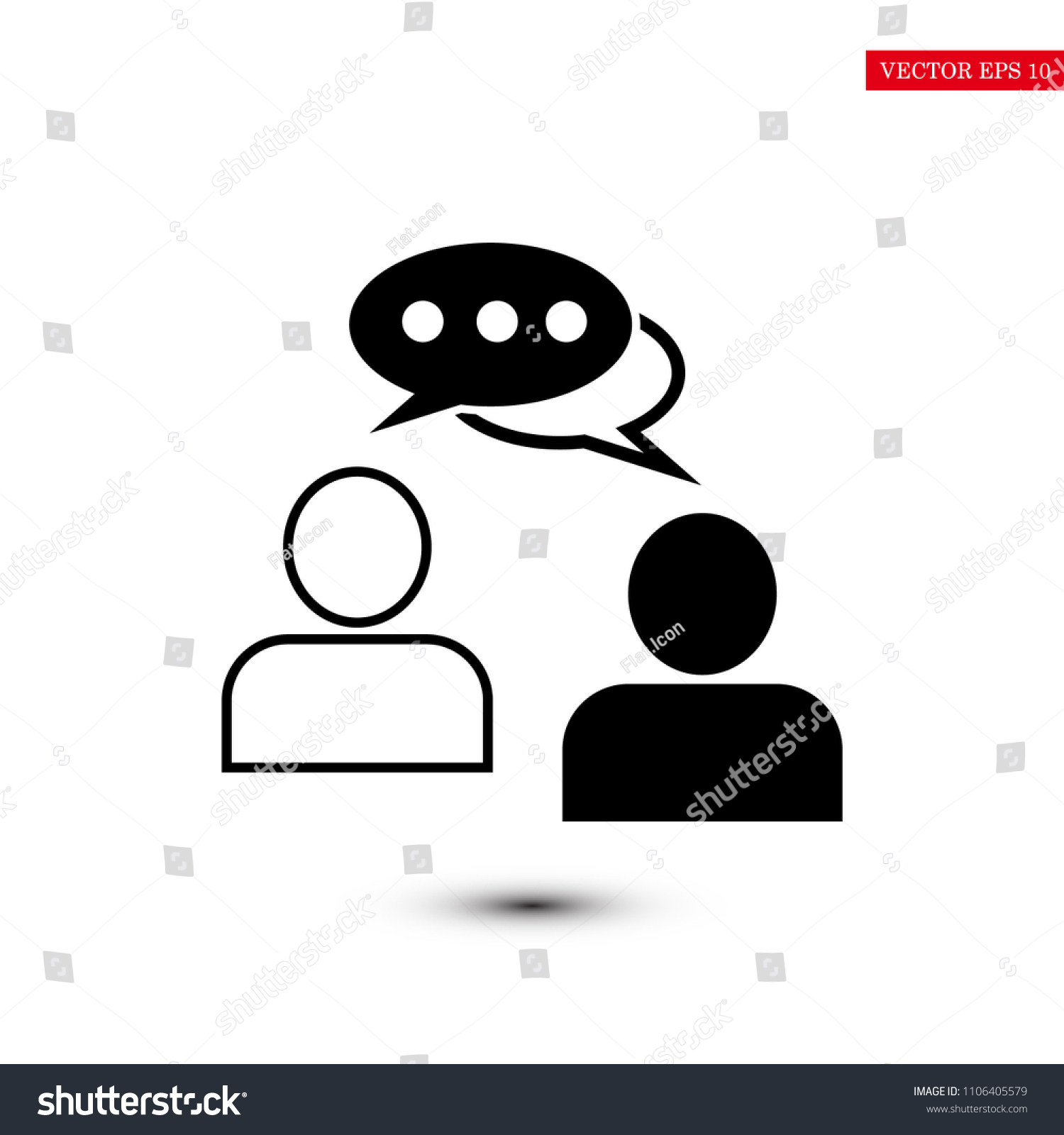 Gratis Juridisch Advies Chat Speaking People Chat Icon Stock Vector Stockvector Rechtenvrij
