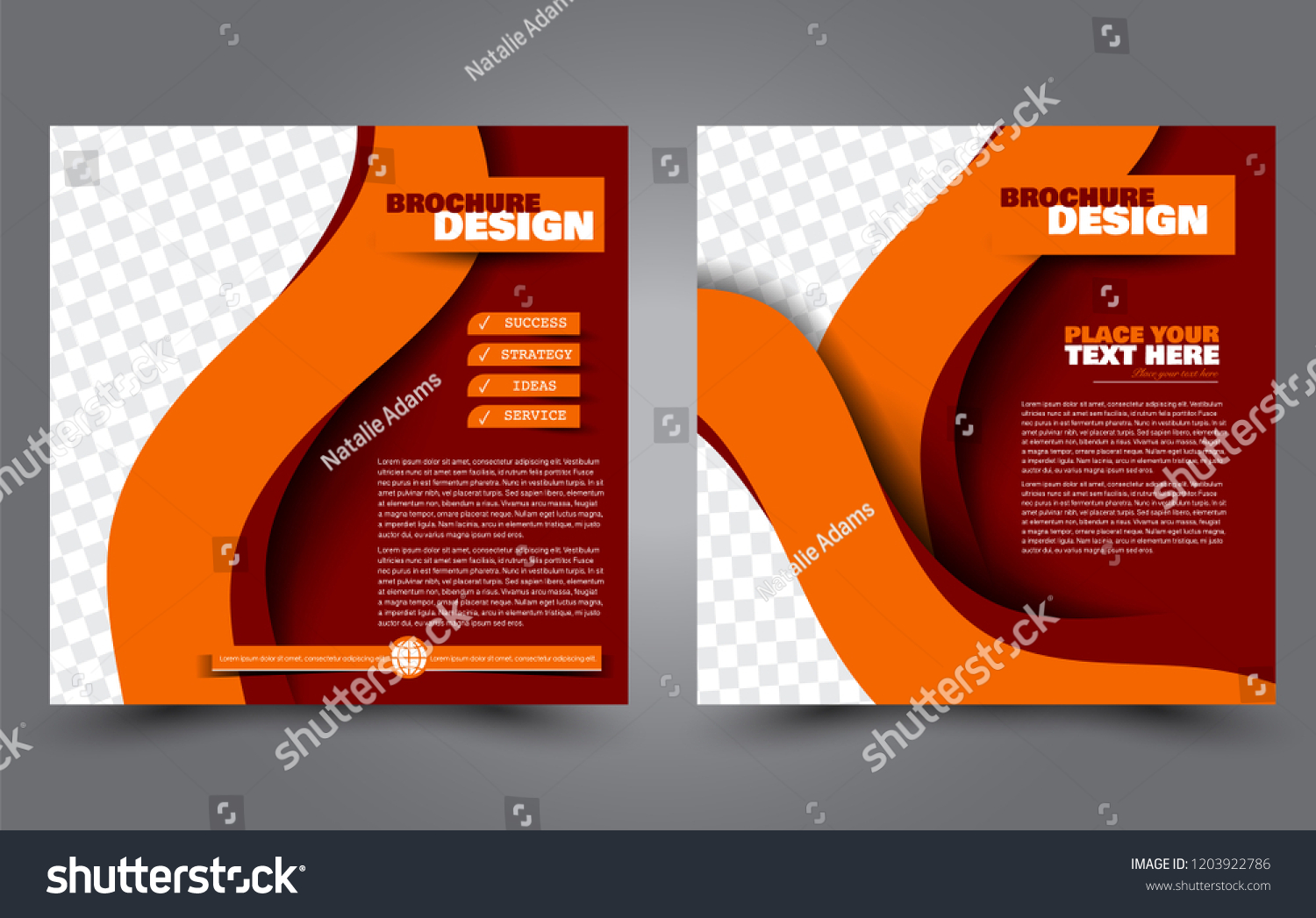 Flyer Ideas Square Flyer Template Simple Brochure Design Stock Vector Royalty