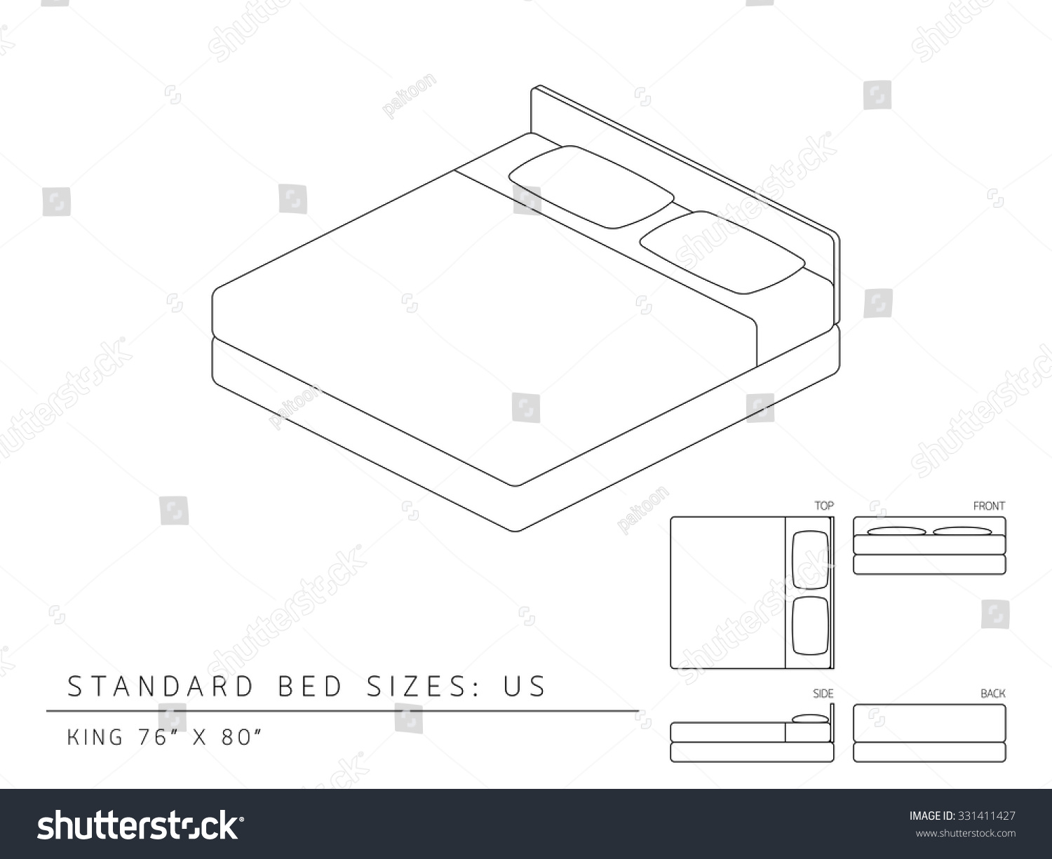 Standard Bed Sizes Standard Bed Sizes Of Us United States Of America King