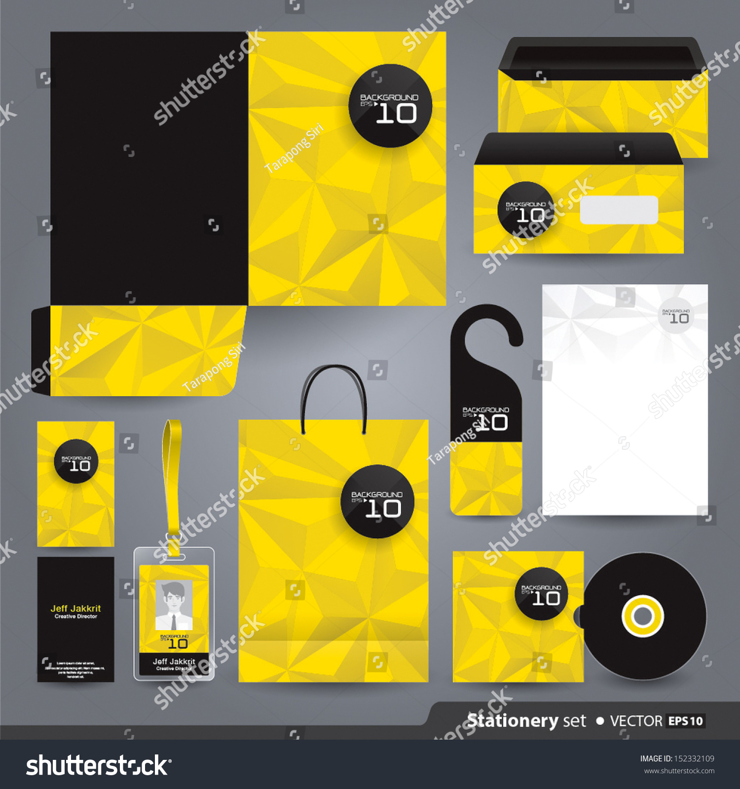 Corporate Graphic Design Stationery Set Design Stationery Template Corporate Stock Vector