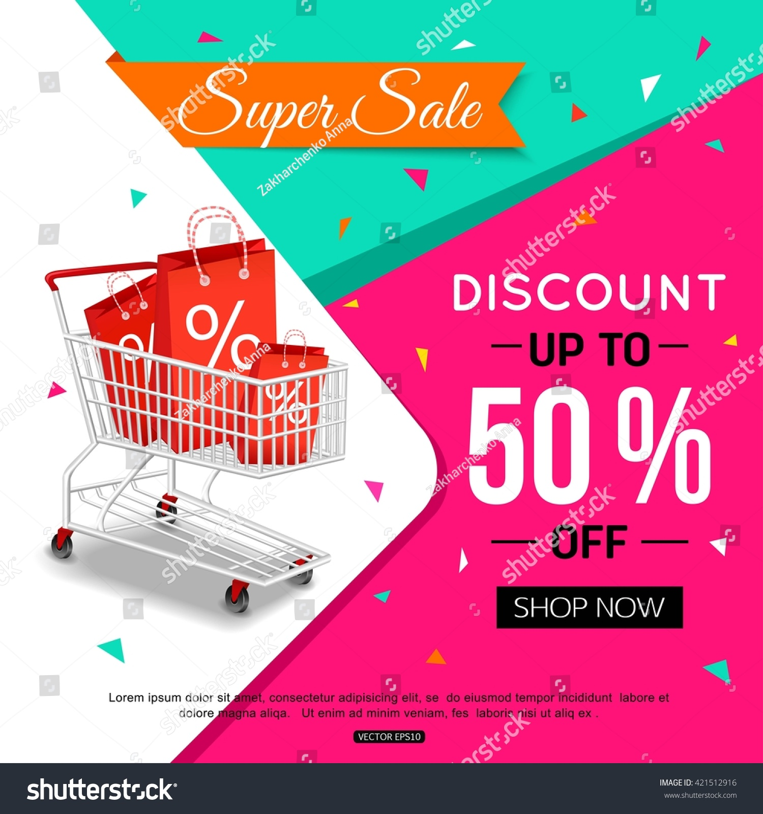 Store Banne Design Super Sale Banner Design Shop Online Stock Vector