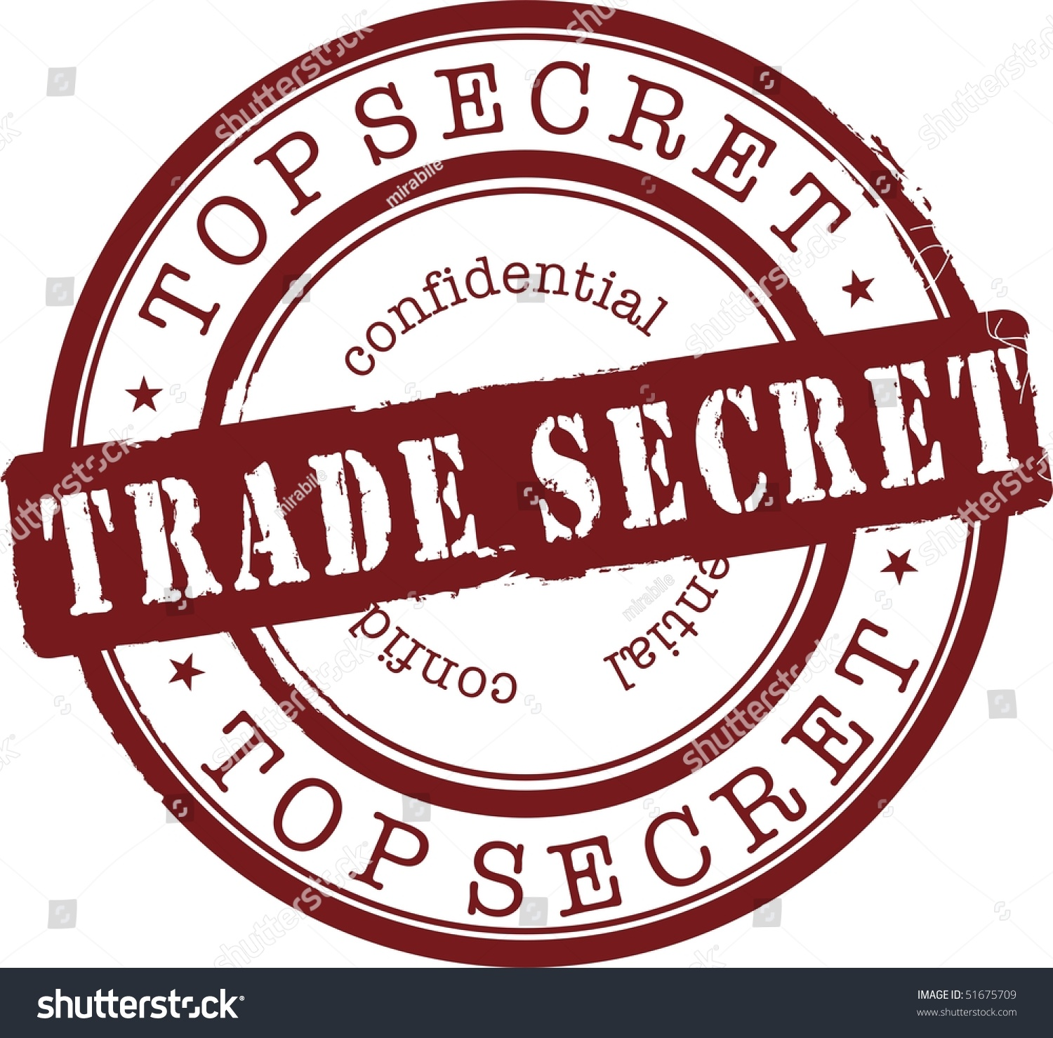 Trade Secret Stamp With Red Ink. Isolated Stock Vector Illustration 51675709 : Shutterstock